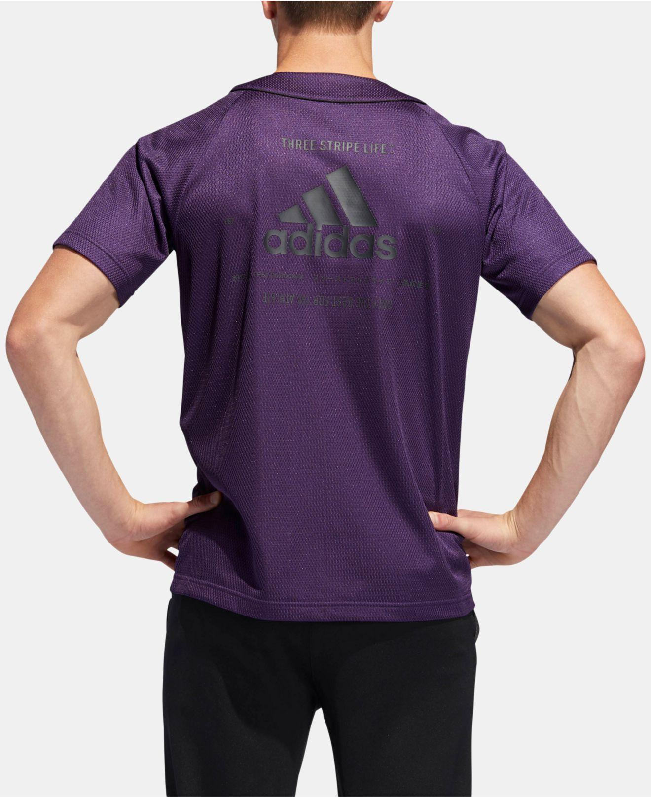 adidas Synthetic Baseball Jersey in Purple for Men - Lyst
