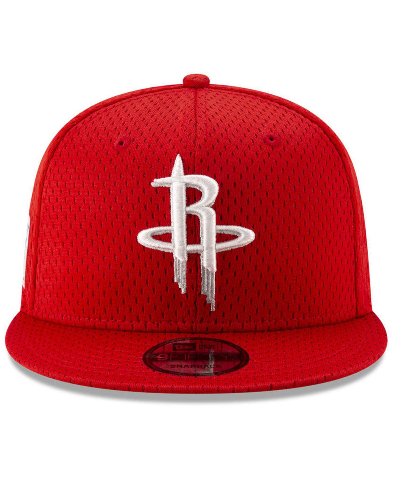 online store 9bc76 0aeb9 ... sale lyst ktz houston rockets jock tag 9fifty snapback cap in red for  men 5d566 11426