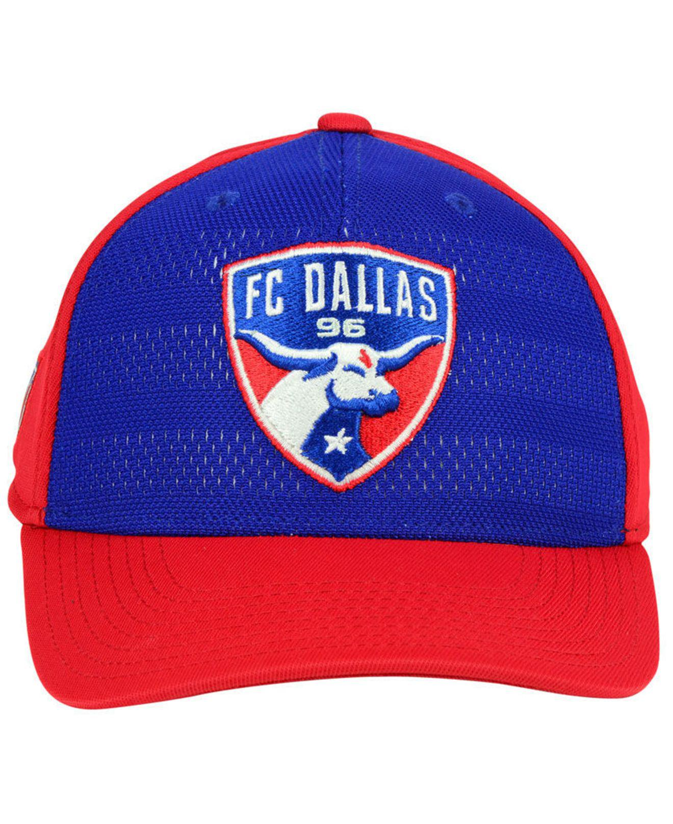 937d43364d3a5 ... red navy iconic adjustable hat b89ce f7689  reduced lyst adidas fc  dallas authentic flex cap in blue for men 363b4 e172a