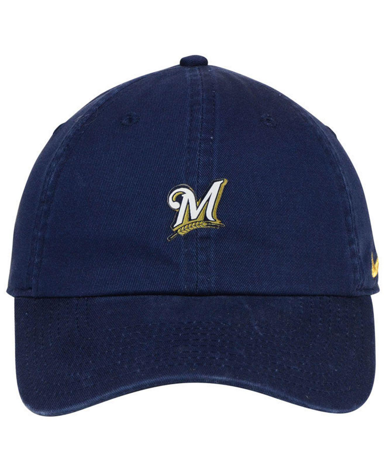 sports shoes 32a37 68d58 Lyst - Nike Milwaukee Brewers Micro Cap in Blue for Men