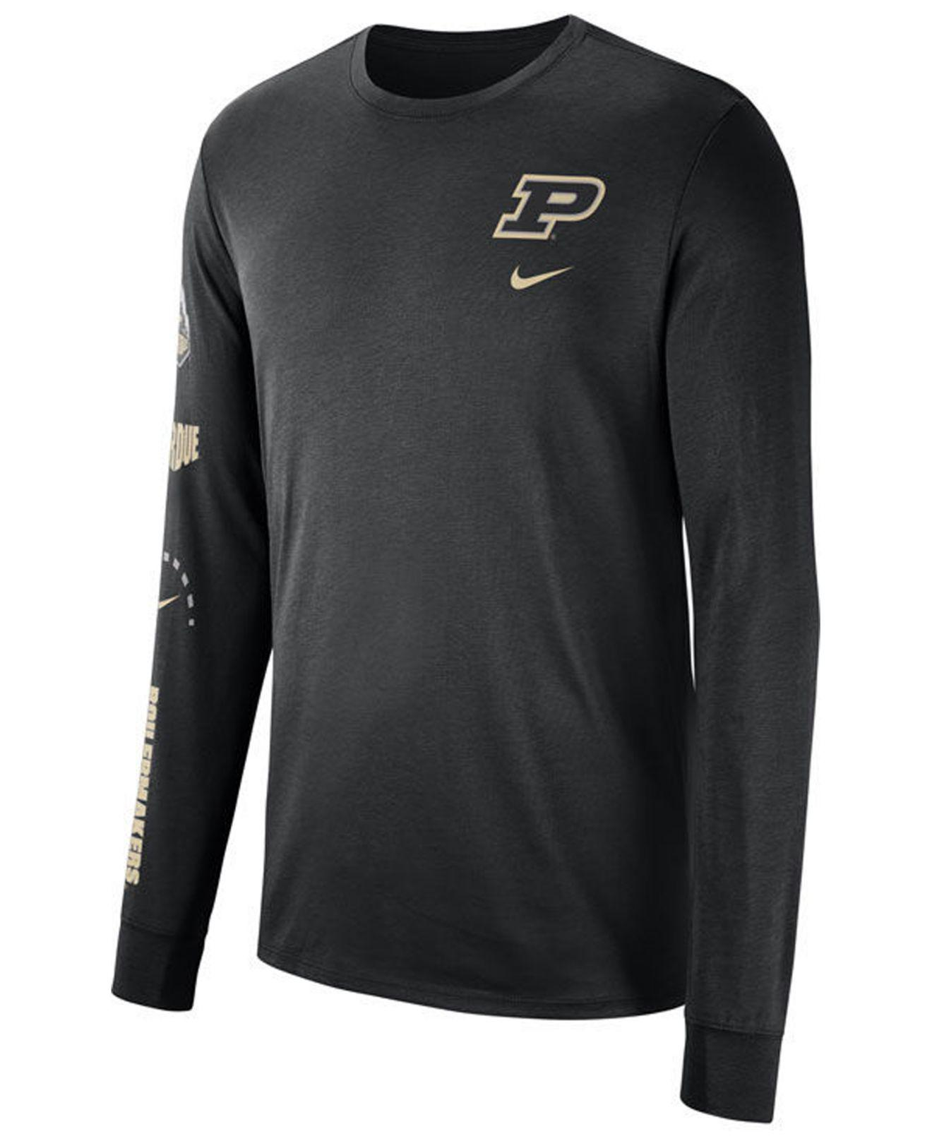 909b9ce8f48 Lyst - Nike Purdue Boilermakers Long Sleeve Basketball T-shirt in ...