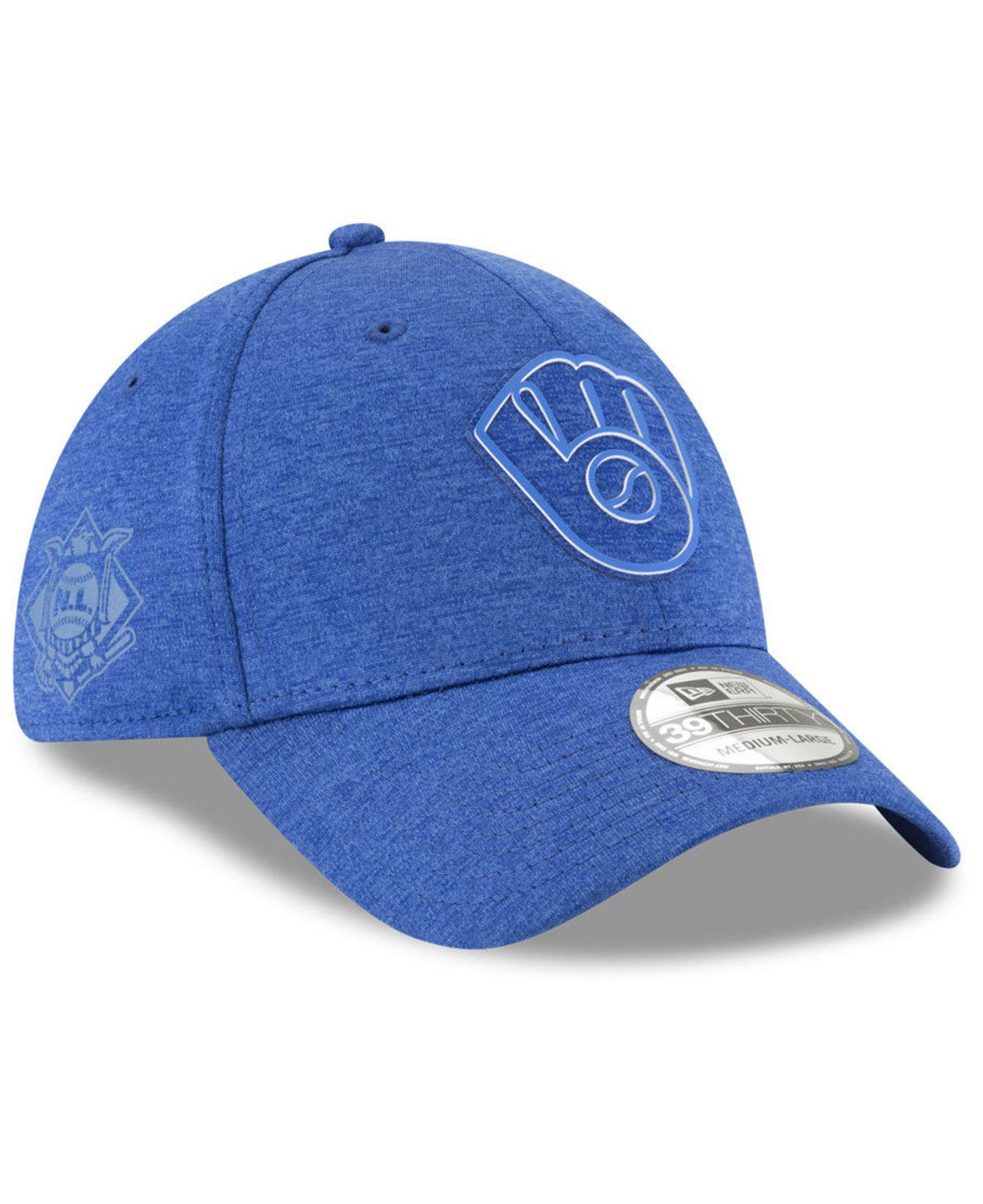 size 40 ceb41 2210f Lyst - KTZ Milwaukee Brewers Clubhouse 39thirty Cap in Blue for Men