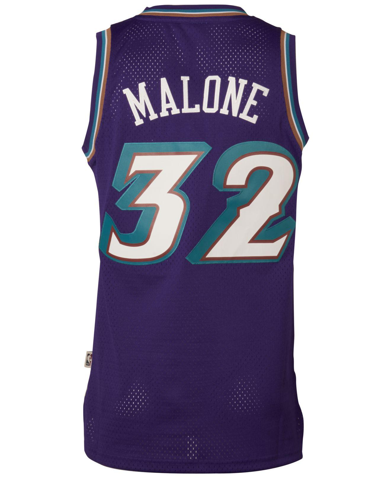 9e0650b1 ... where can i buy lyst adidas mens karl malone utah jazz swingman jersey  in purple for