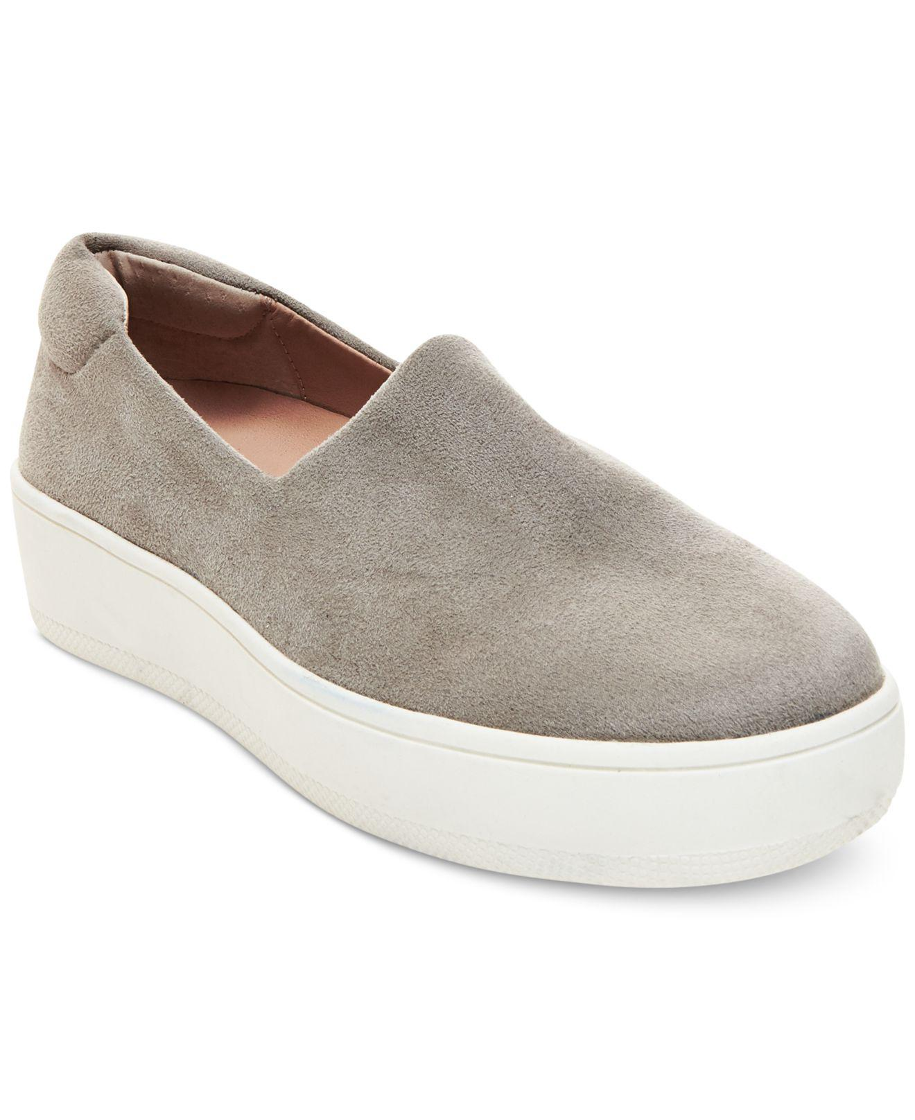 022269caf6f Lyst - Steven by Steve Madden Hilda Slip On Platform Sneakers in Gray