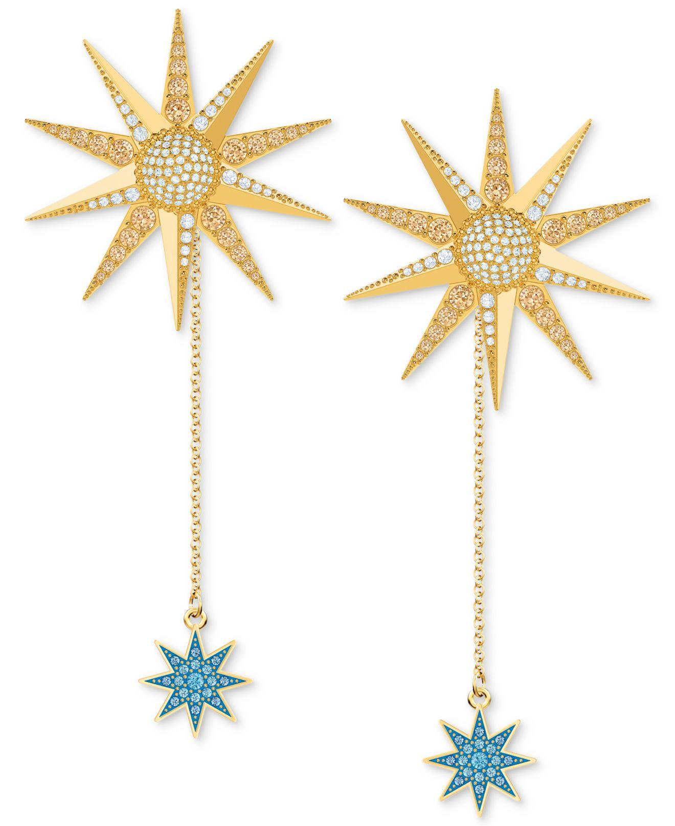 8d35c5739 Swarovski Gold-tone Lucky Goddess Extra Large Long Drop Earrings in ...