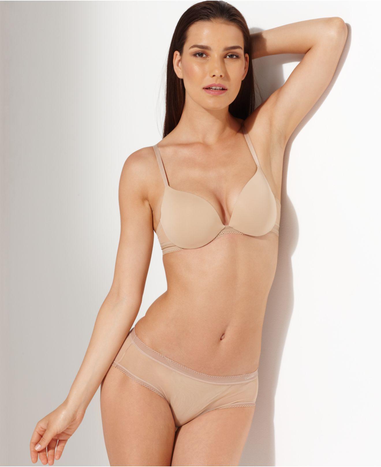 a57bb8496b73e Lyst - Calvin Klein Icon Perfect Push Up Bra F3647