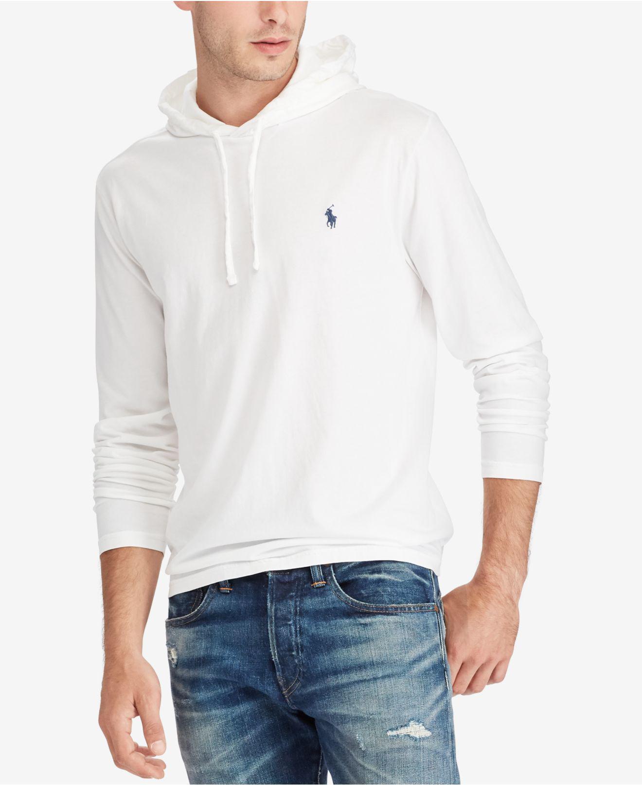 2b6b0c70 Polo Ralph Lauren Men's Jersey T-shirt Hoodie in White for Men - Lyst
