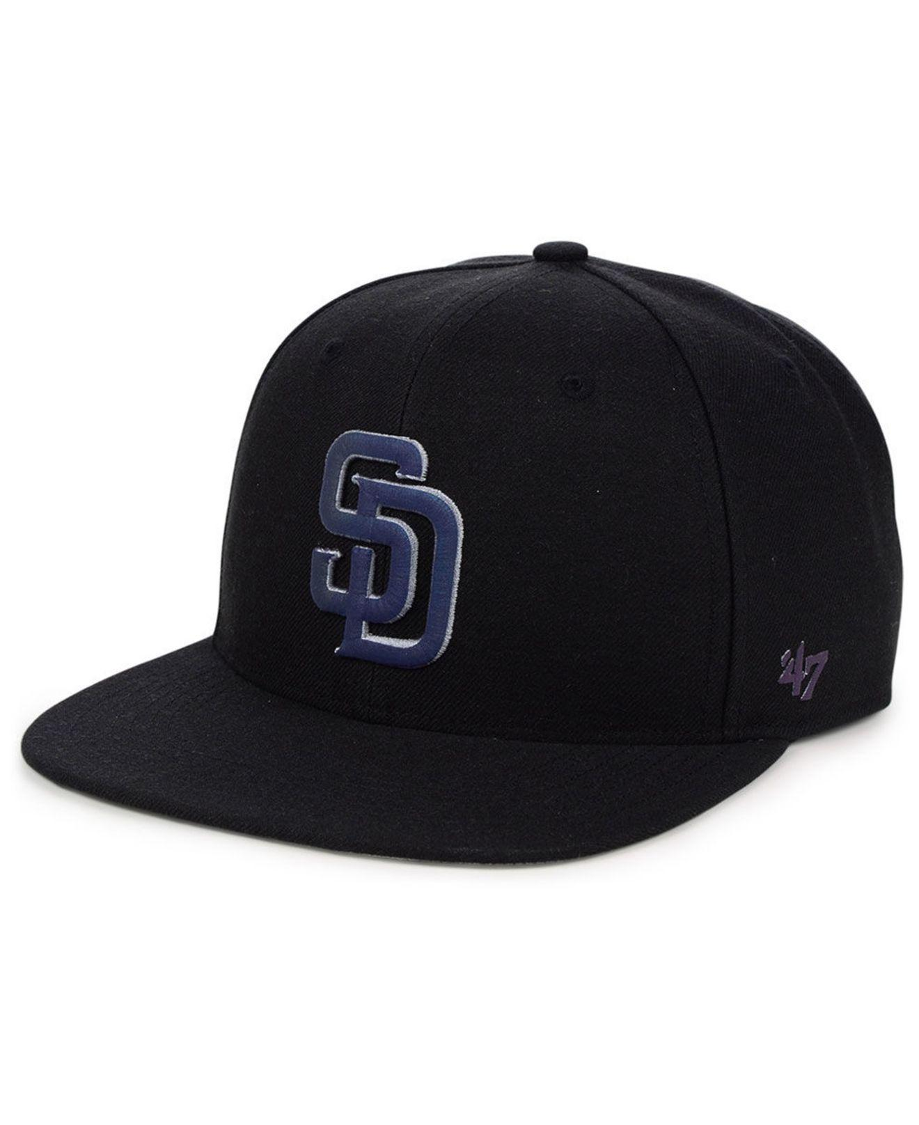 outlet store 2e9e3 a5715 47 Brand San Diego Padres Iridescent Snapback Cap in Black for Men ...