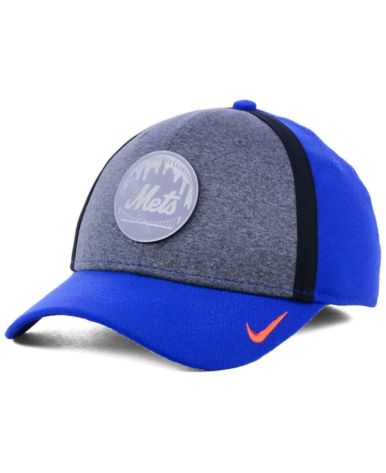 Lyst - Nike New York Mets Team Color Reflective Swooshflex Cap in ... aeb7c58a0e48