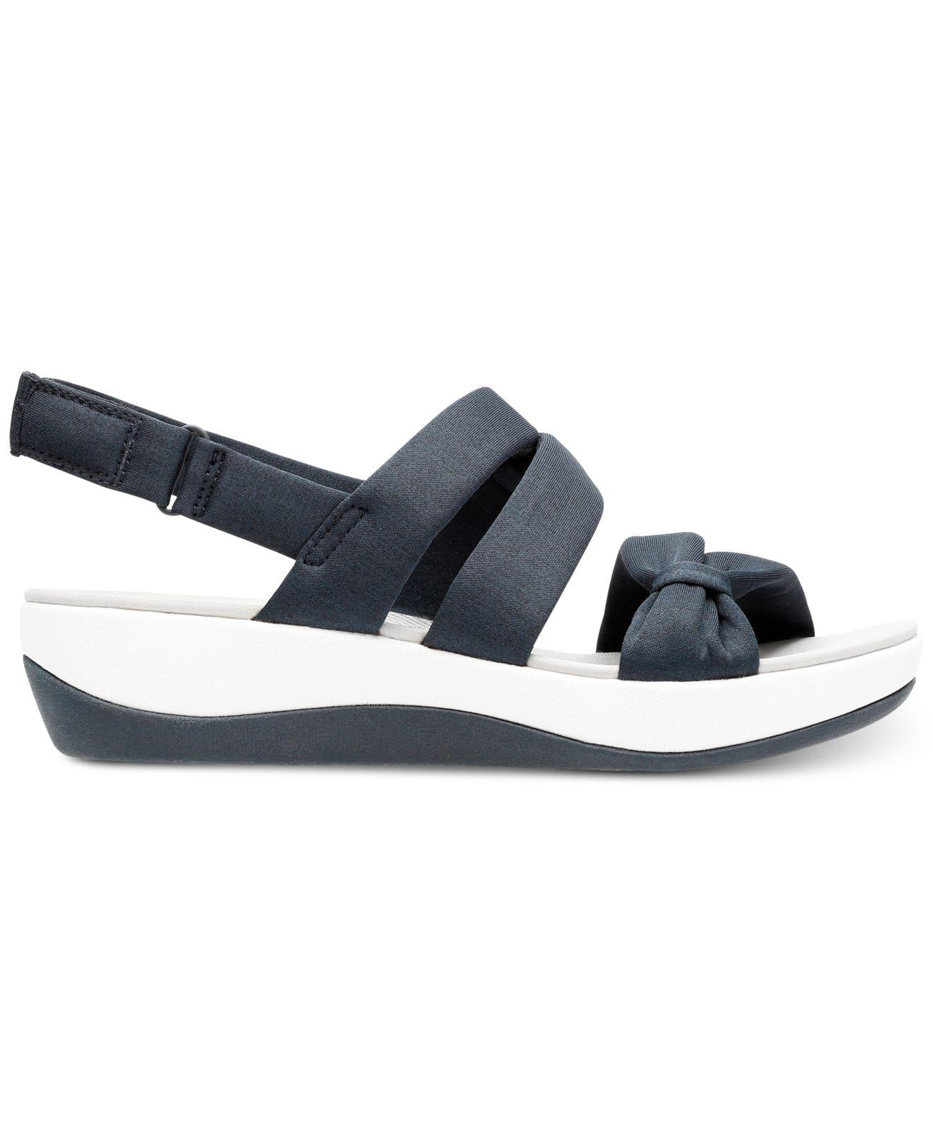 1678cf5f7bb6 Lyst - Clarks Cloudsteppers Arla Mae Wedge Sandals in Blue