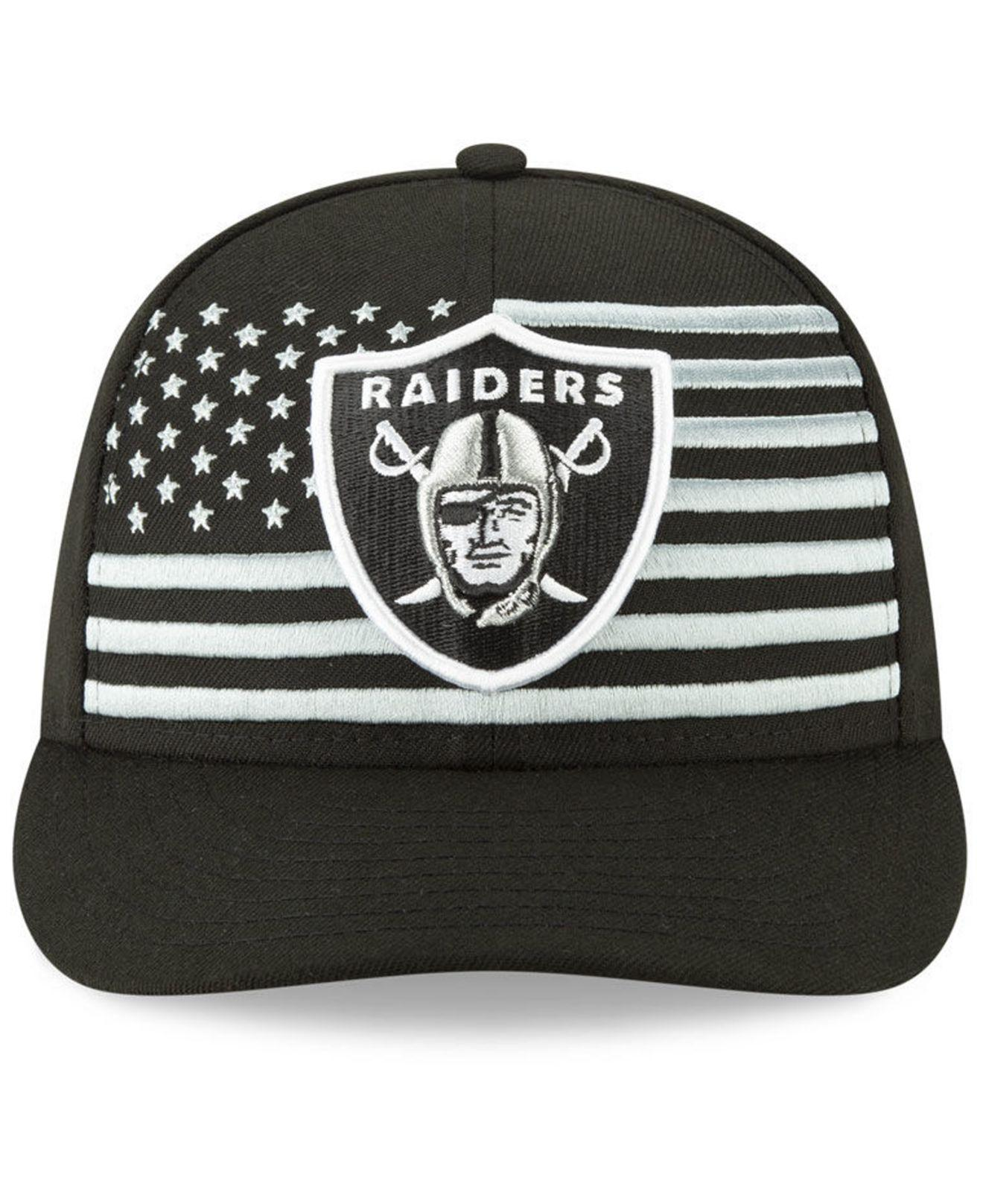 d22abbd9 Lyst - KTZ Oakland Raiders Draft Low Profile 59fifty-fitted Cap in Black  for Men