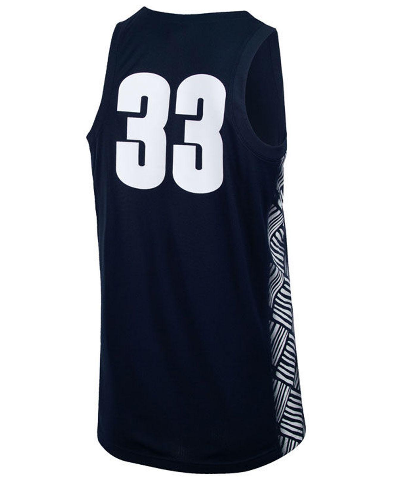 free shipping dc28b 7ec45 Men's Blue Georgetown Hoyas Replica Basketball Jersey