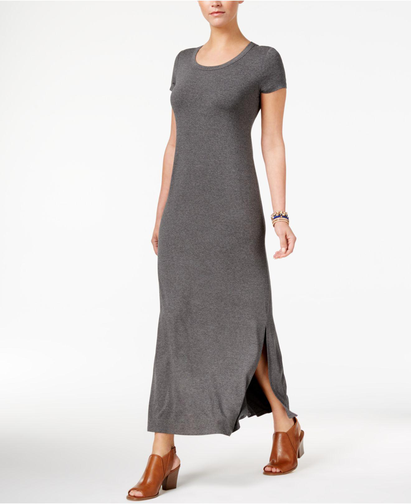 96e7b8d5a6e8 Lyst - Style & Co. Petite Scoop-neck Maxi Dress in Gray - Save 85%