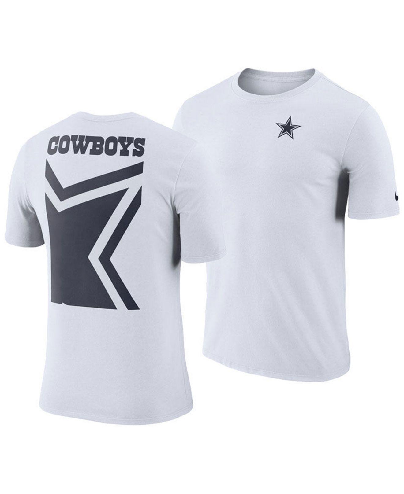 d1411a78 Nike White Dallas Cowboys Crew Champ T-shirt for men