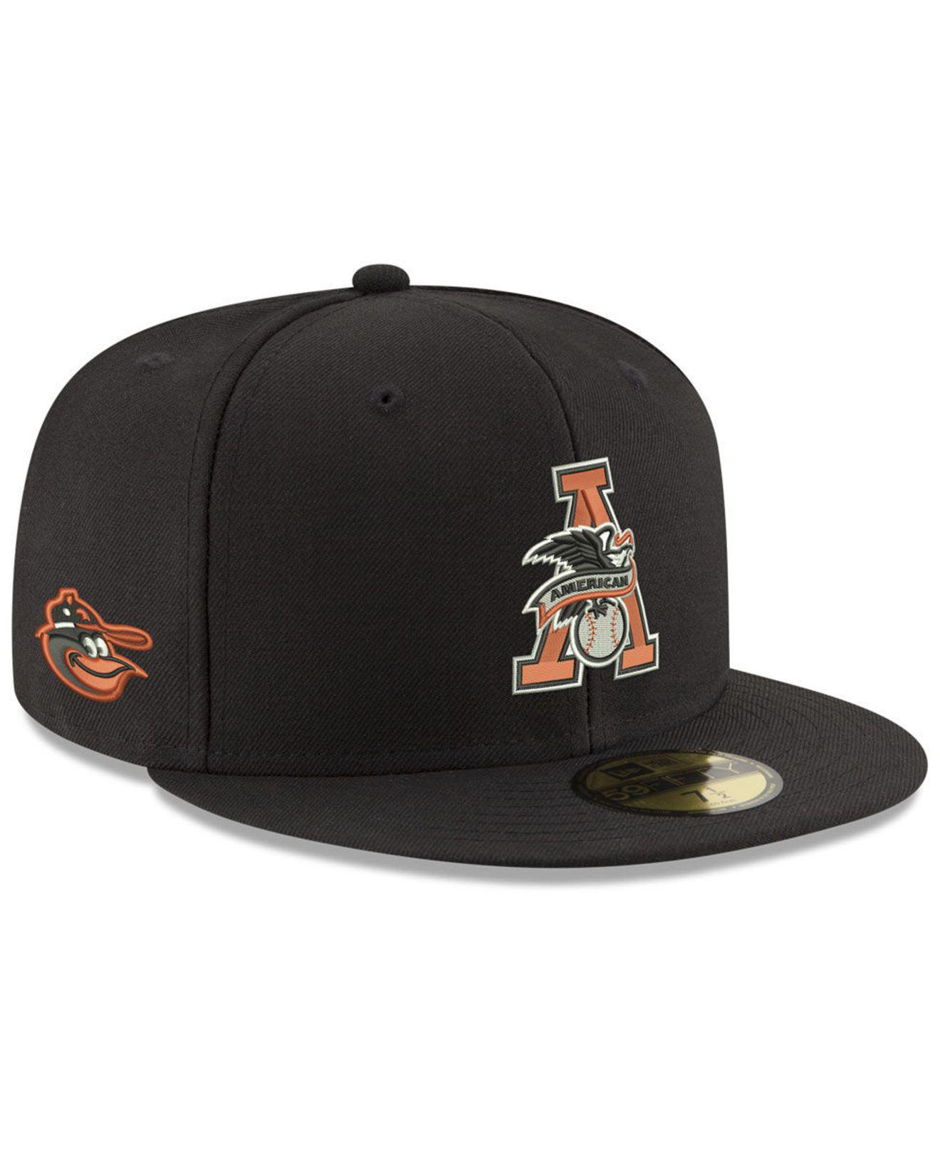 the best attitude b6b4b 1a759 ... usa ktz. mens black baltimore orioles league front 59fifty fitted cap  bae82 66f2b