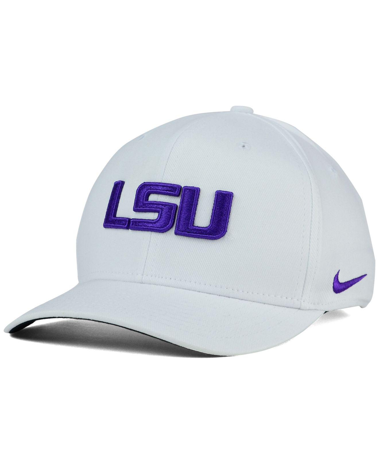 65b89bd5786c3 Lyst - Nike Lsu Tigers Classic Swoosh Cap in White for Men