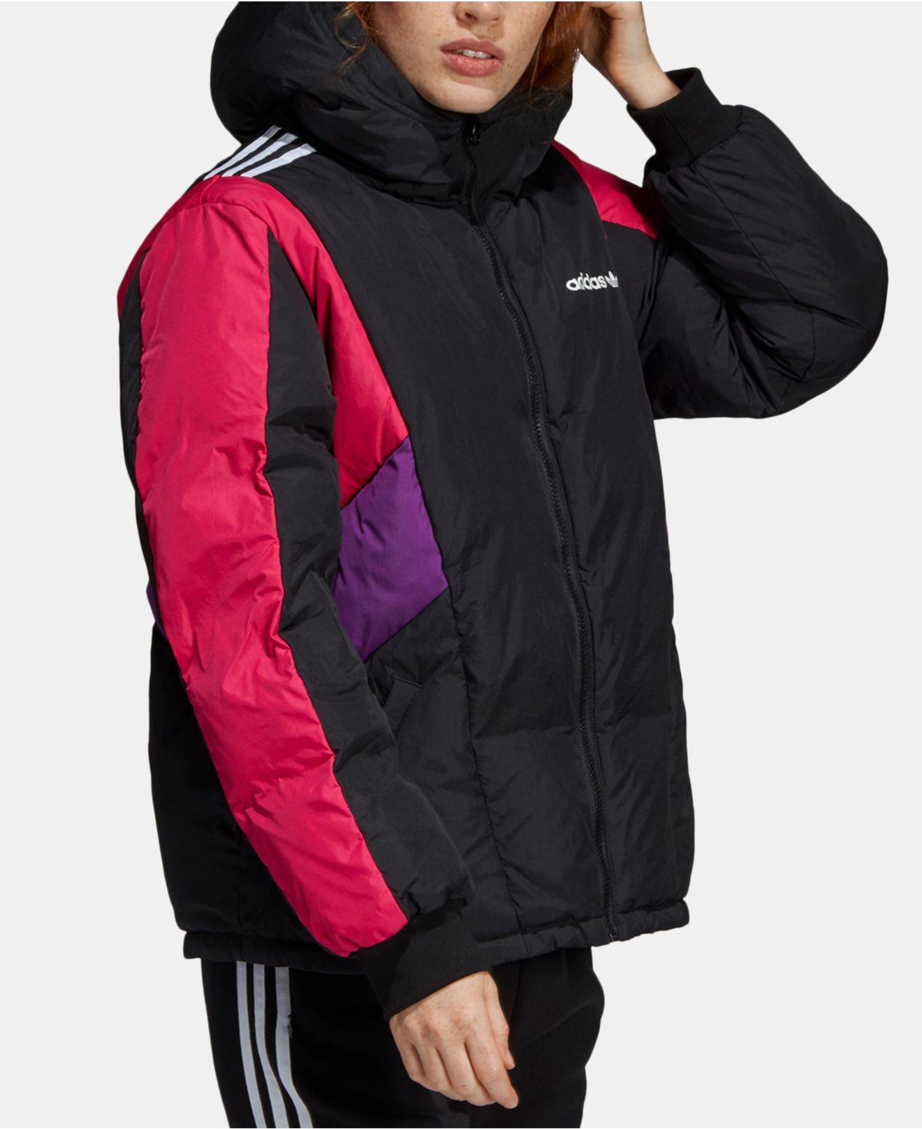 159b91f457b7 adidas Originals 90s Colorblocked Hooded Down Jacket in Black - Lyst