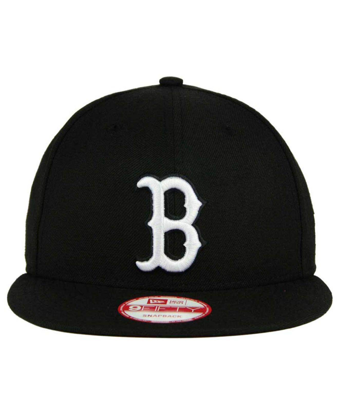d522459dd56d6 KTZ Boston Red Sox B-dub 9fifty Snapback Cap in Black for Men - Lyst