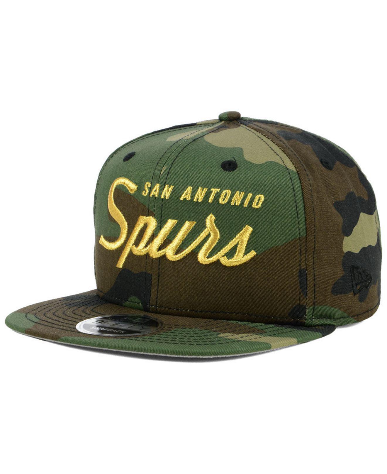 2f31d897577 Lyst - Ktz San Antonio Spurs Classic Script 9fifty Snapback Cap in ...