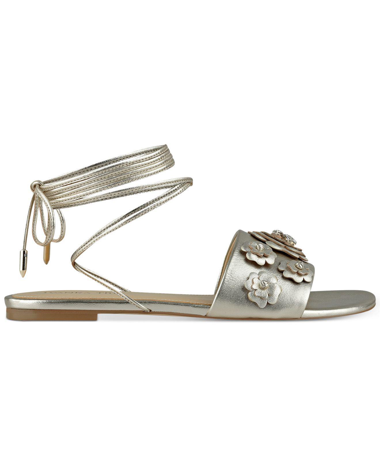 Ivanka Trump Catera Ankle Wrap Sandals AEBhkyC