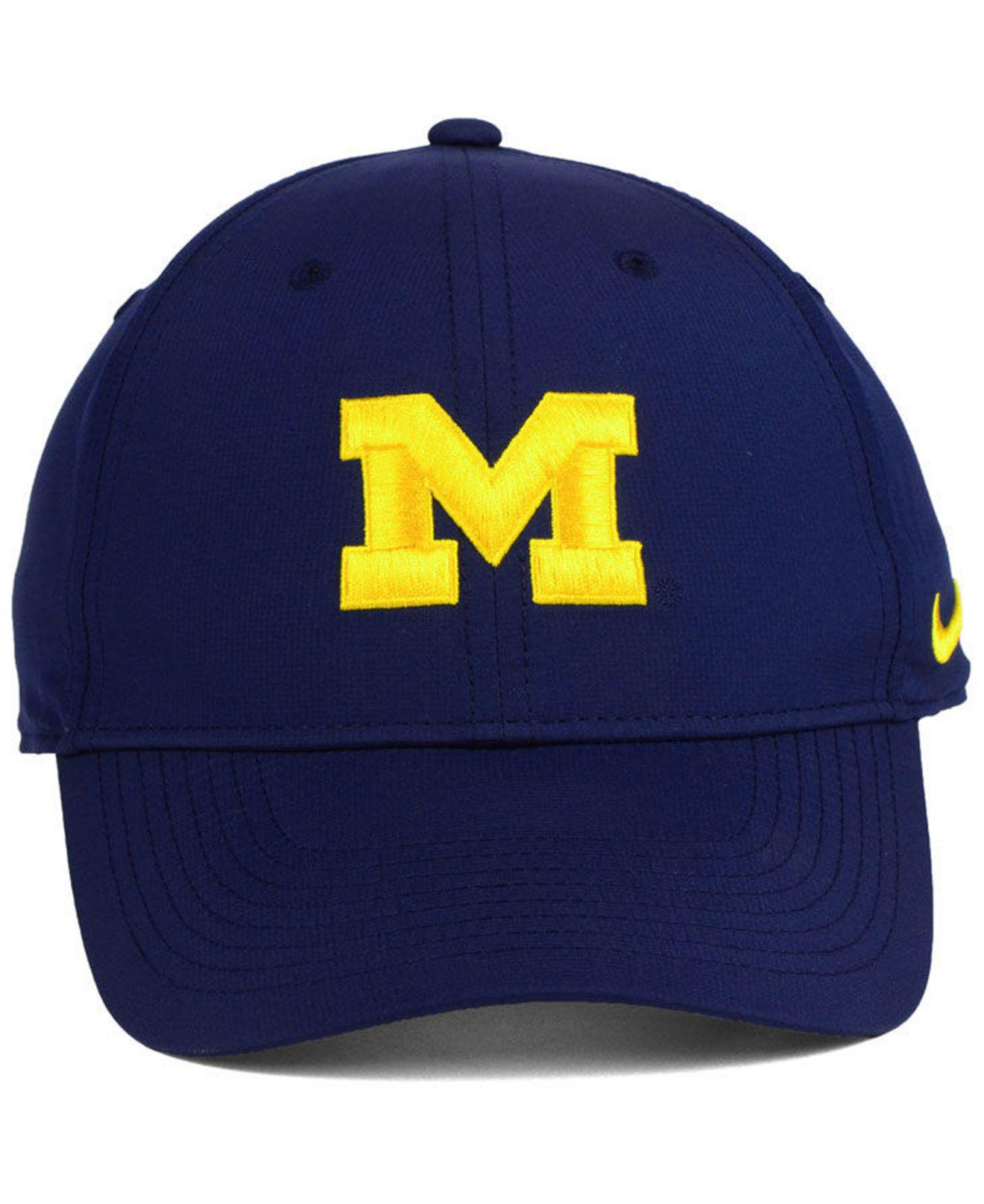 size 40 a77ce 00af9 ... cheap lyst nike michigan wolverines dri fit adjustable cap in blue for  men 6345b f4c55