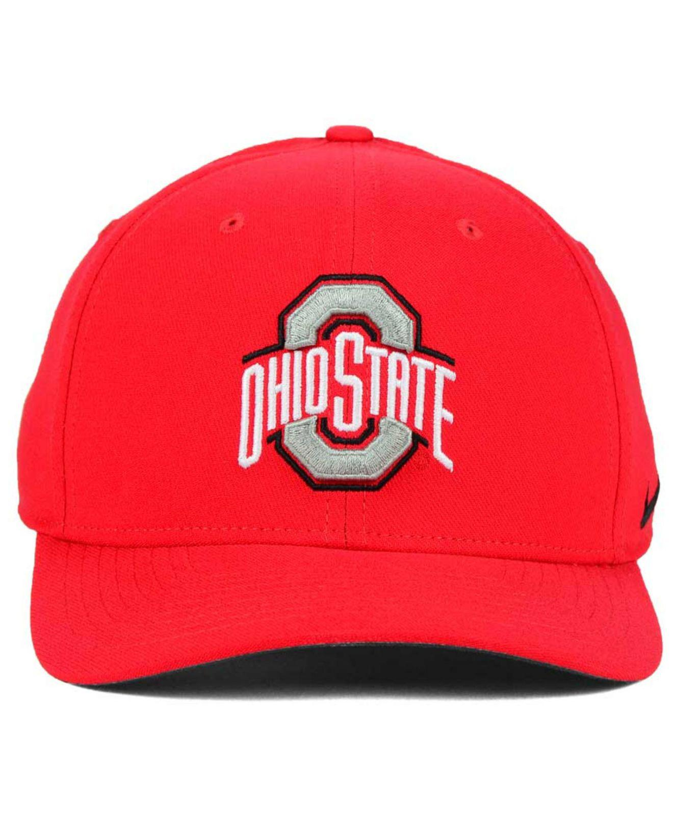 456d4b59c47 Lyst - Nike Ohio State Buckeyes Classic Swoosh Cap in Red for Men