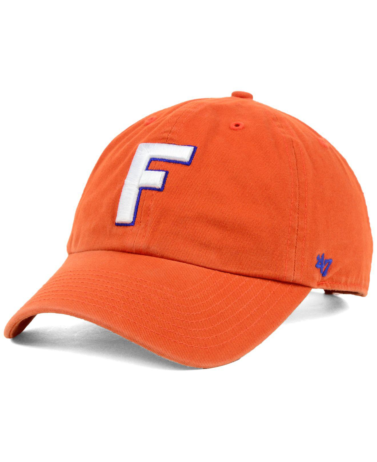 the latest a4106 db1dd ... authentic lyst 47 brand florida gators clean up cap in orange for men  30448 97389