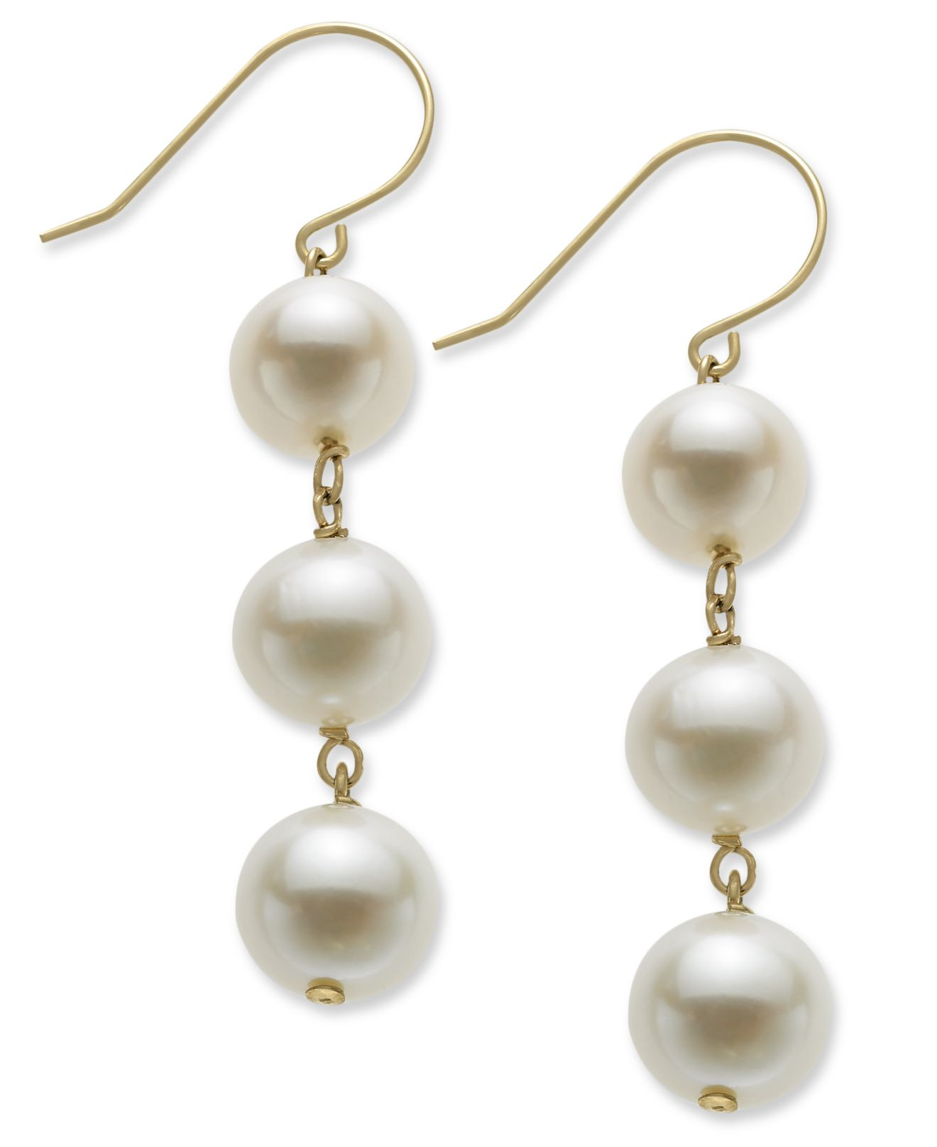 Macy's Women's Pearl Earrings
