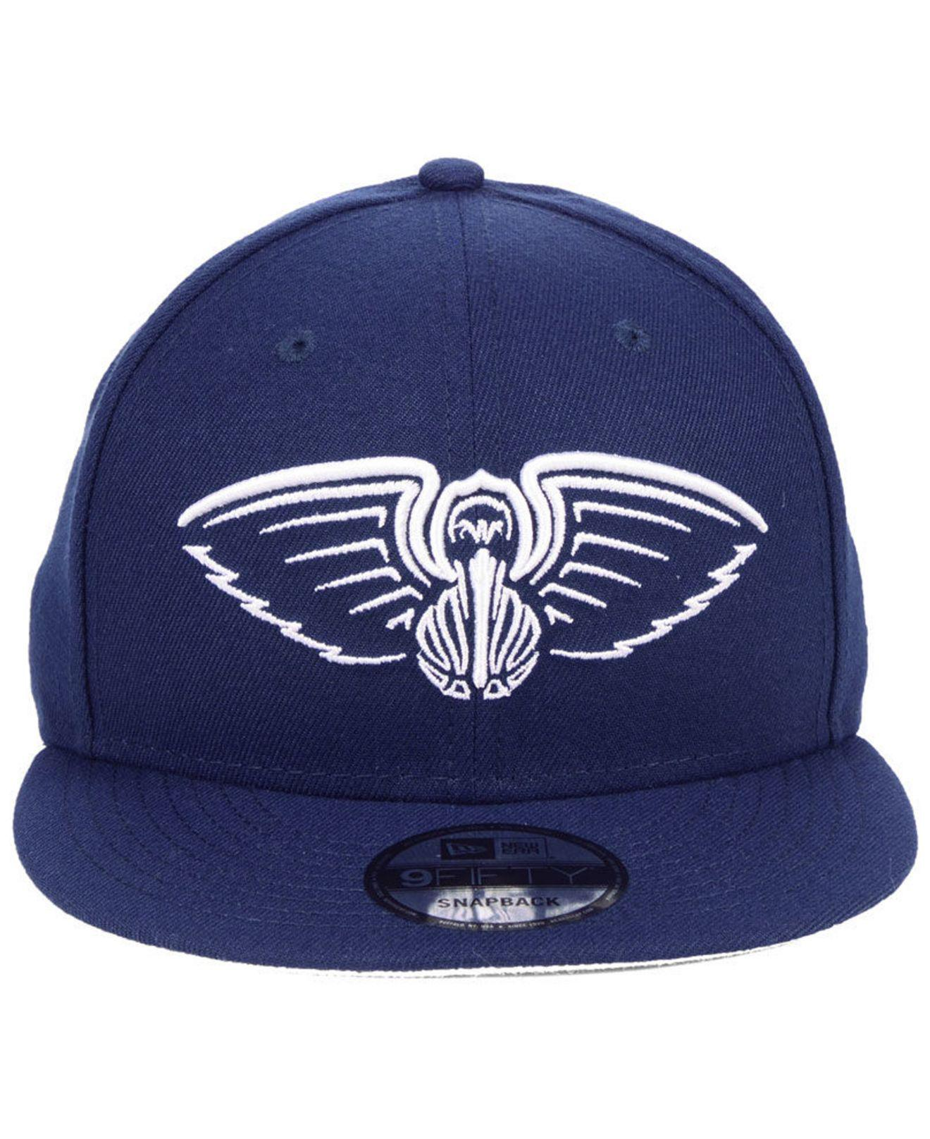 check out 662f0 4e908 ... canada lyst ktz new orleans pelicans logo trace 9fifty snapback cap in  blue for men 185eb