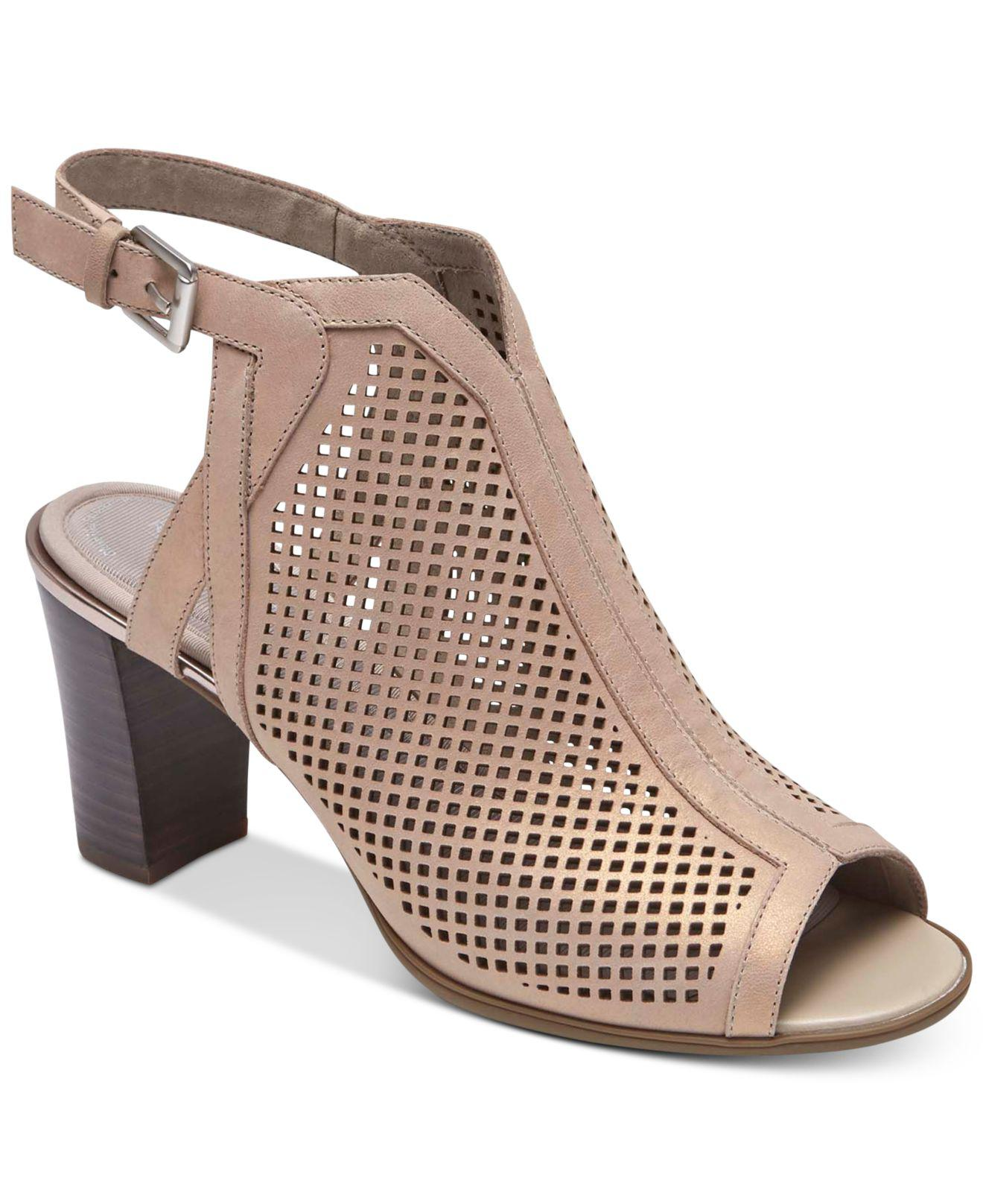 fcb7788f14ee Rockport Trixie Perforated Shooties in Brown - Lyst