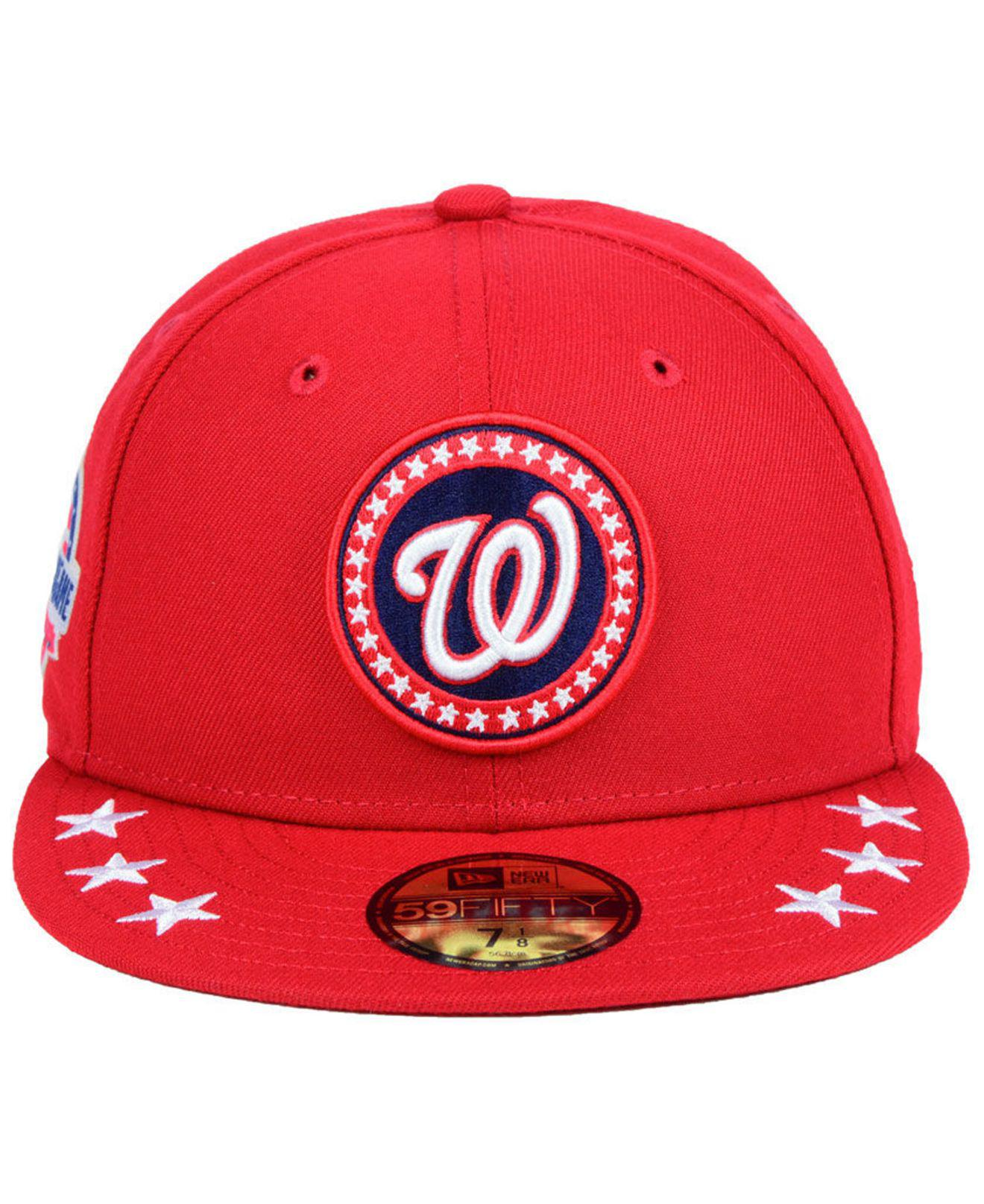 d7302a85cf0a3 ... denmark lyst ktz washington nationals all star workout 59fifty fitted cap  2018 in red for men