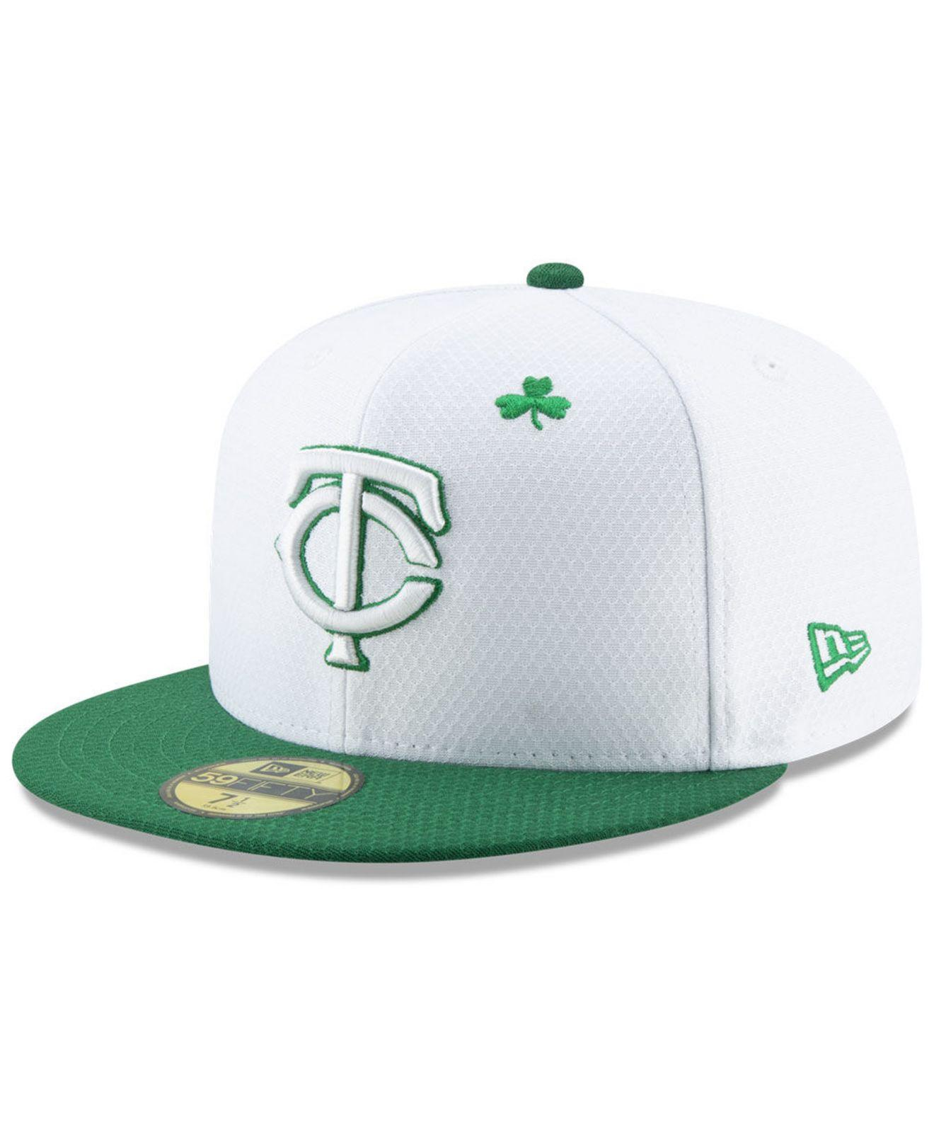 reputable site 2f831 a19b9 KTZ. Men s White Minnesota Twins St. Pattys Day 59fifty-fitted Cap