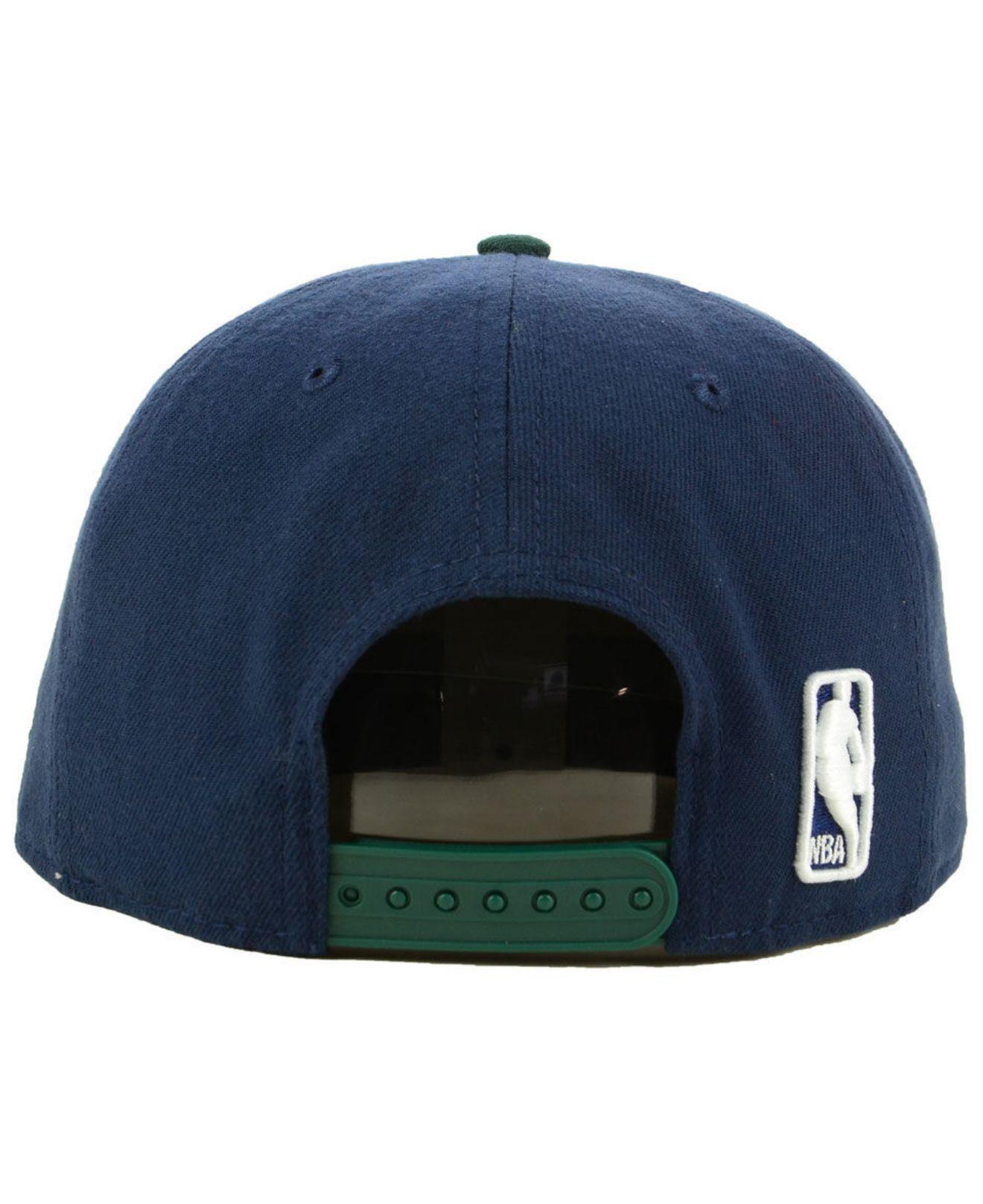 cheap for discount 2a612 6e01d ... germany lyst ktz utah jazz basic 2 tone 9fifty snapback cap in blue for  men 2ec04