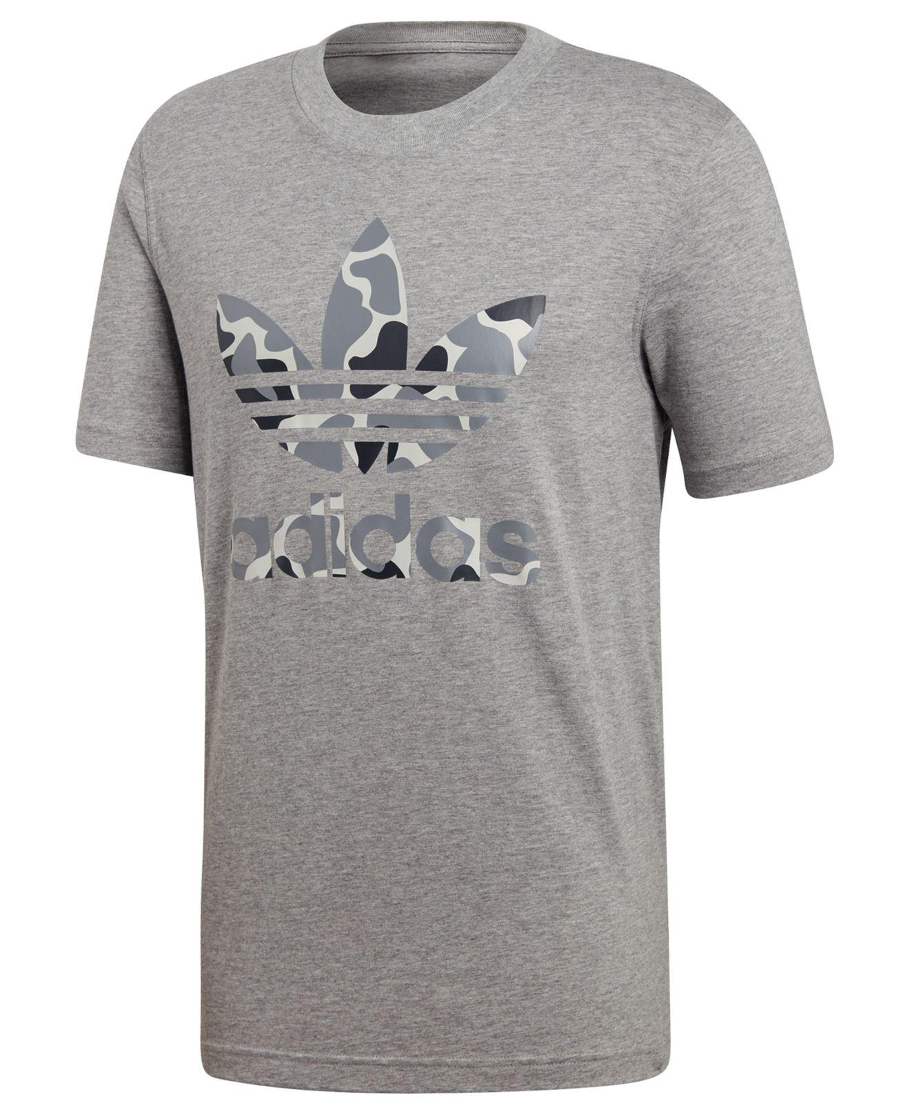 028004ddf02faf Lyst - adidas Originals Camo-print Treifoil T-shirt in Gray for Men