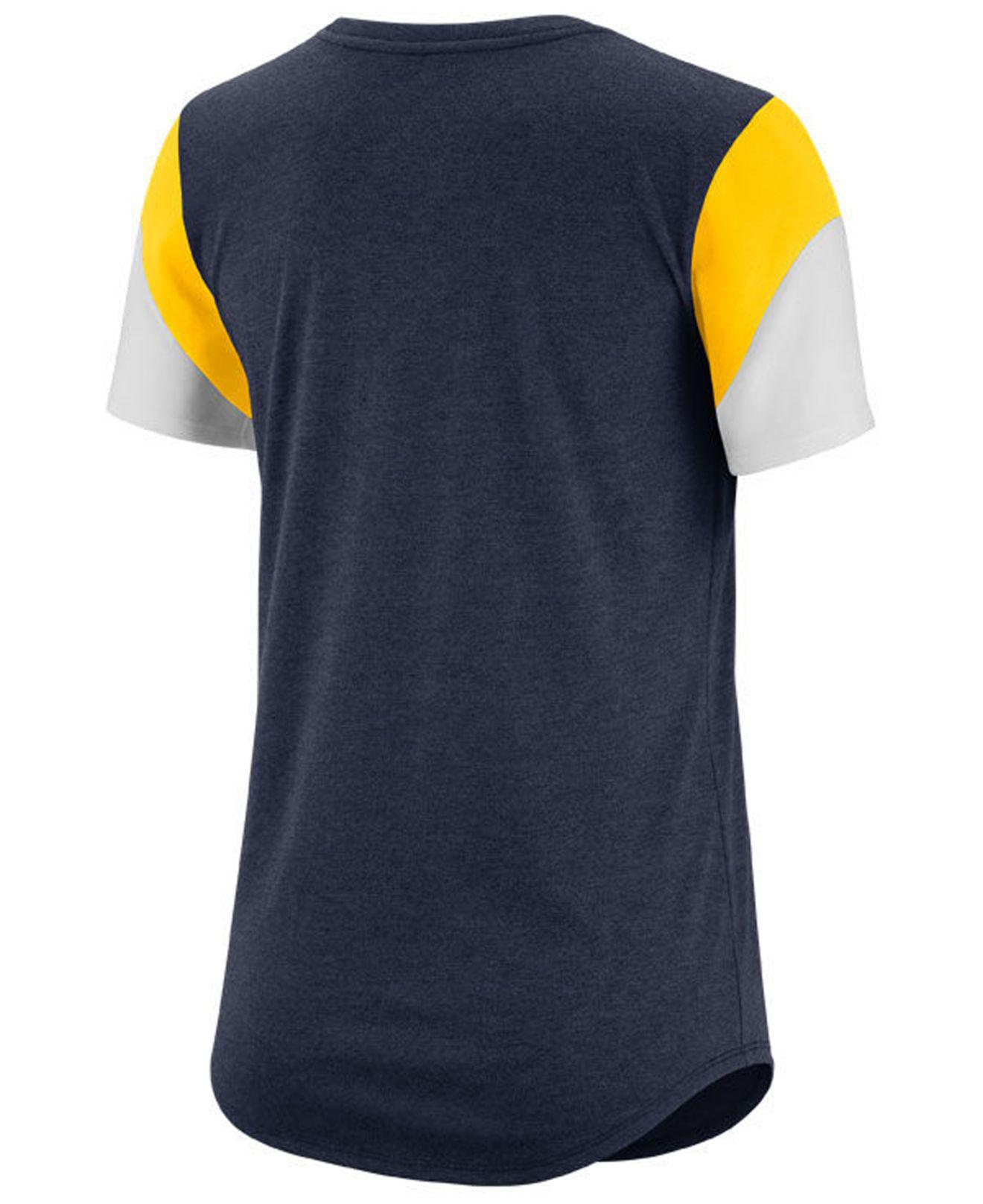 0ff01782e80054 Lyst - Nike Michigan Wolverines Tri-blend Fan T-shirt in Blue for Men