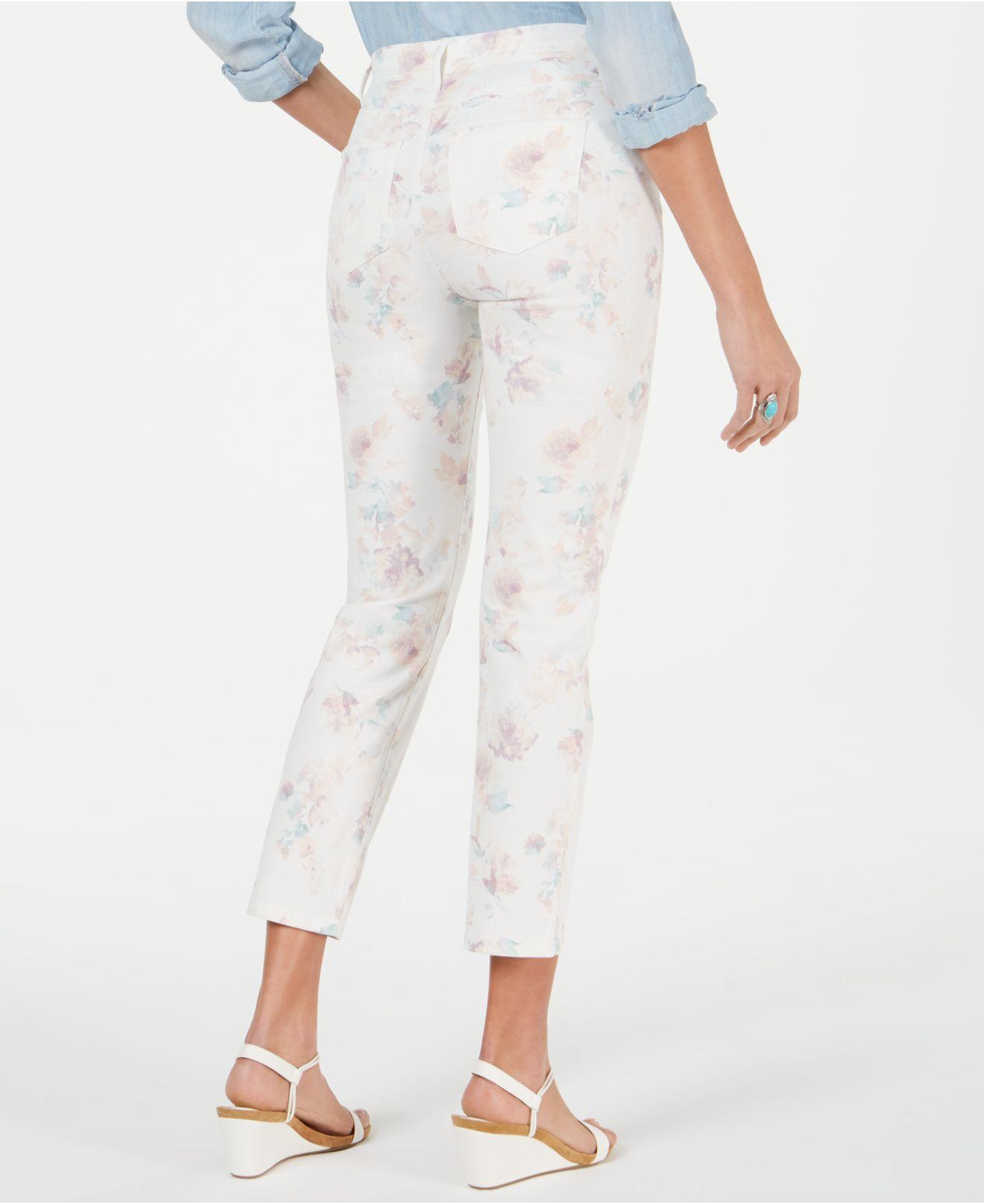 57974494893 Lyst - Style & Co. Petite Tummy-control Printed Skinny Pants, Created For  Macy's in White