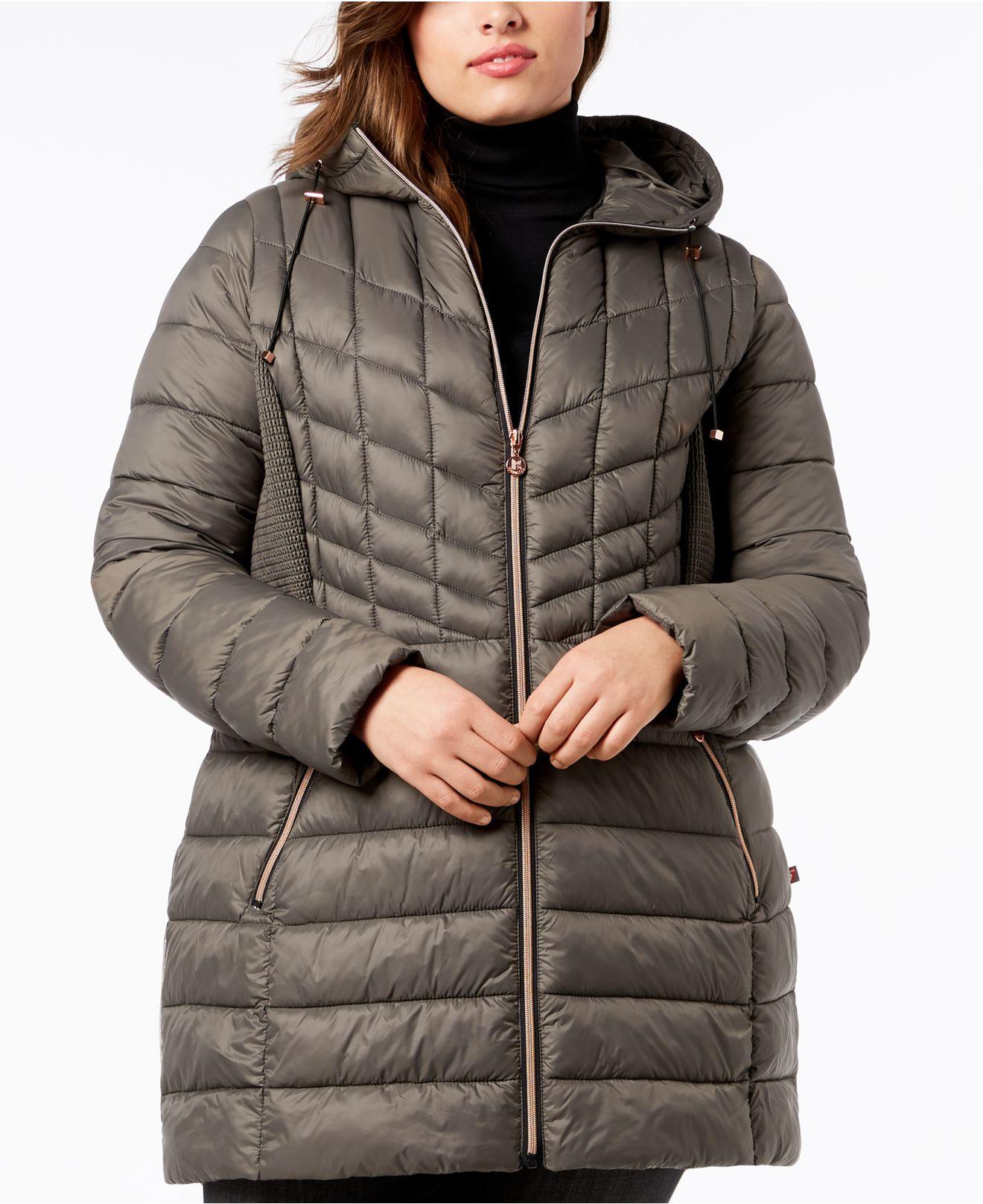 e897303100b Lyst - Bernardo Plus Size Packable Puffer Coat