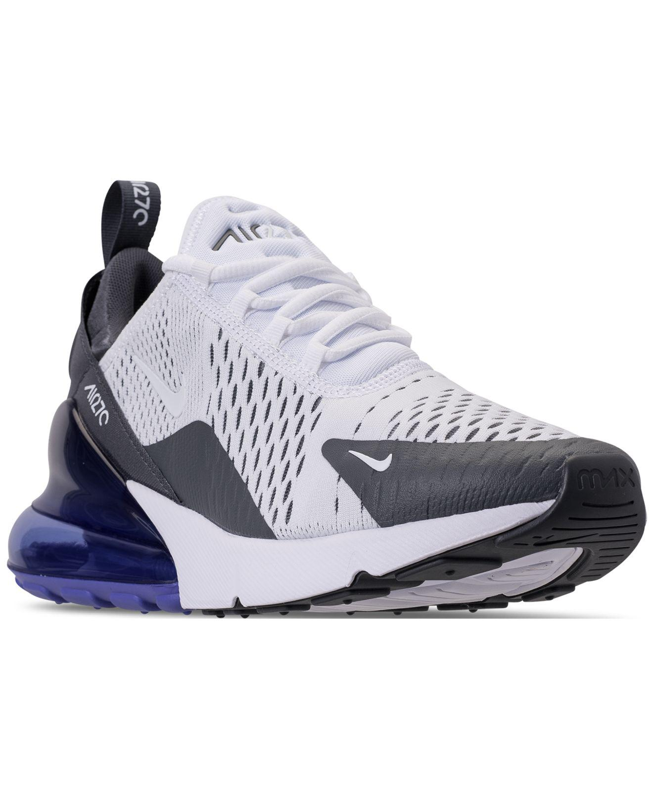 huge selection of c6faa 67cb7 Nike - Blue Air Max 270 Casual Sneakers From Finish Line for Men - Lyst