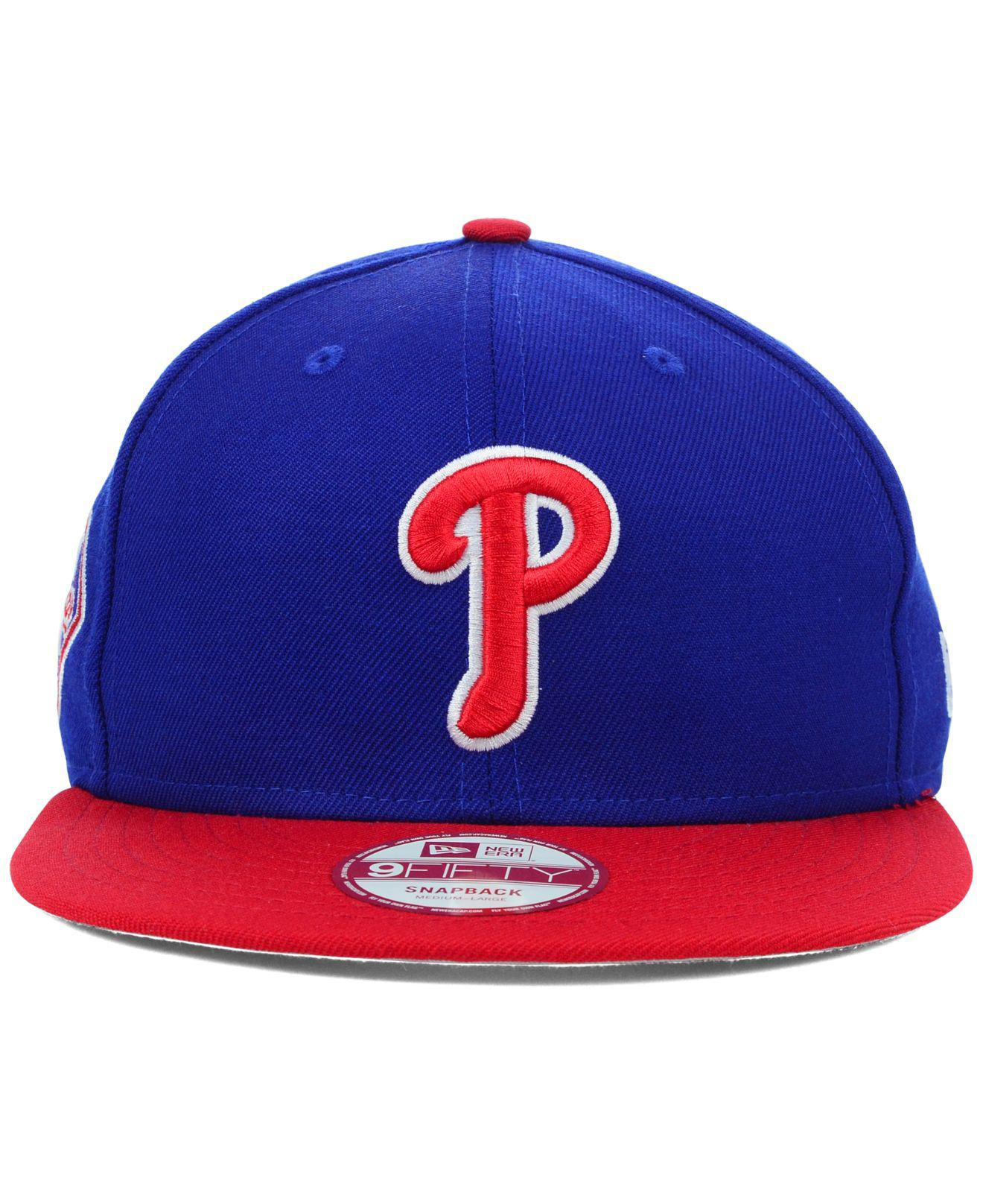 newest 0464c b03f7 ... sweden lyst ktz philadelphia phillies mlb 2 tone link 9fifty snapback  cap in blue for men ...