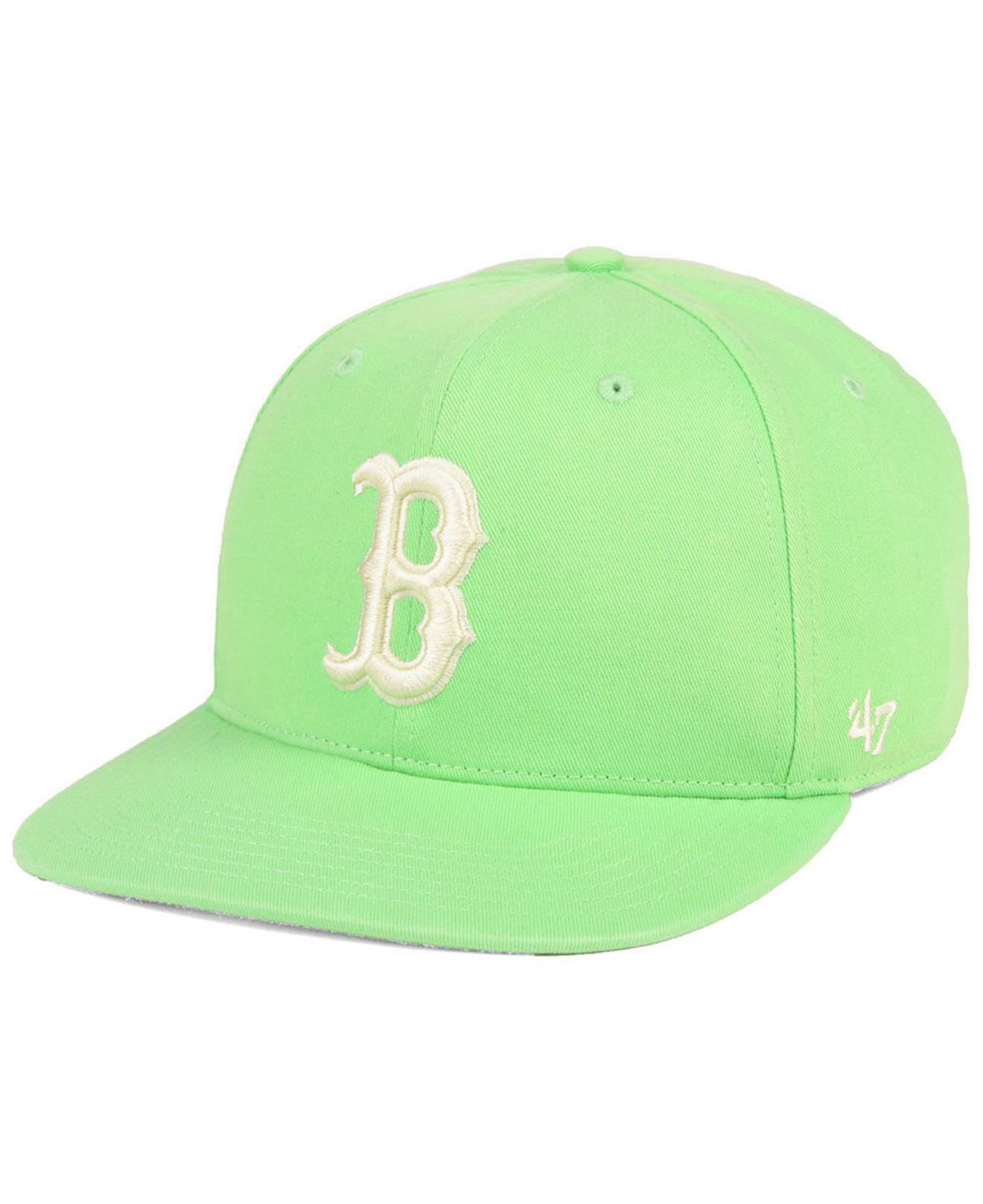 great quality casual shoes factory outlet 47 Brand Wool Boston Red Sox Island Snapback Cap in Green for Men ...