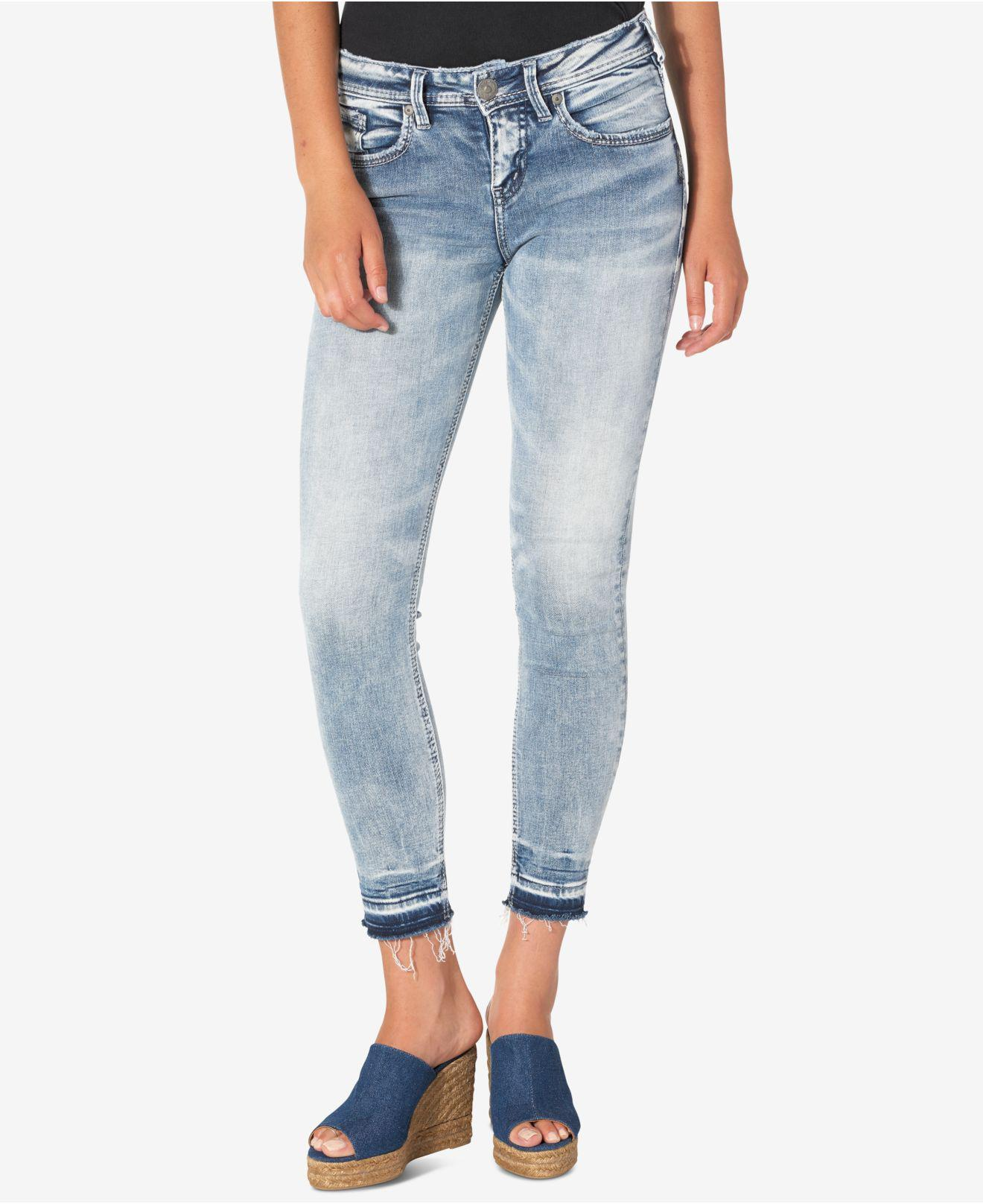 cd4c6c2c Silver Jeans Co. Avery Ankle Light Blue Wash Released-hem Skinny ...