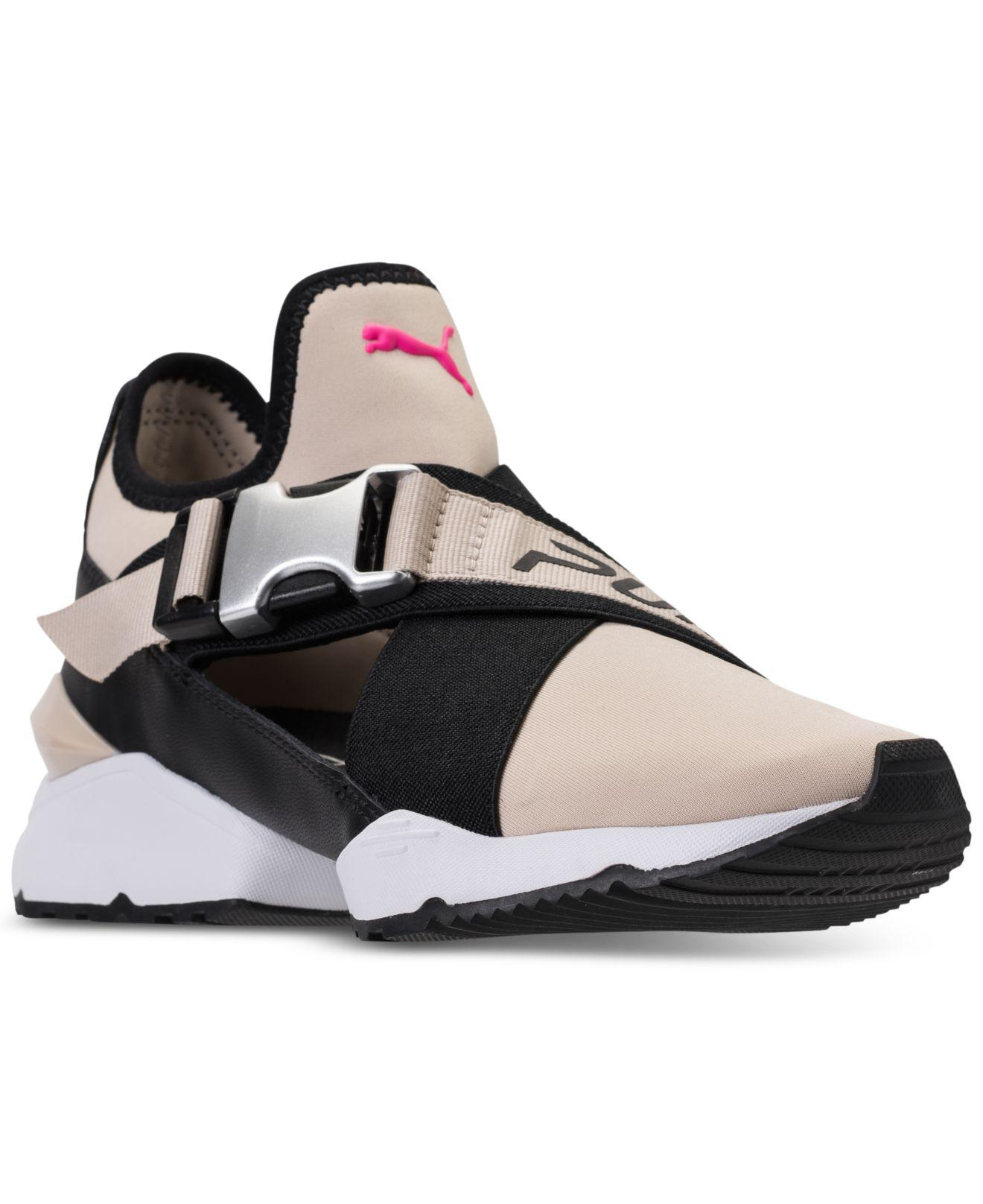 d9ba24d91c13 Lyst - PUMA Muse Cutout Casual Sneakers From Finish Line in Black
