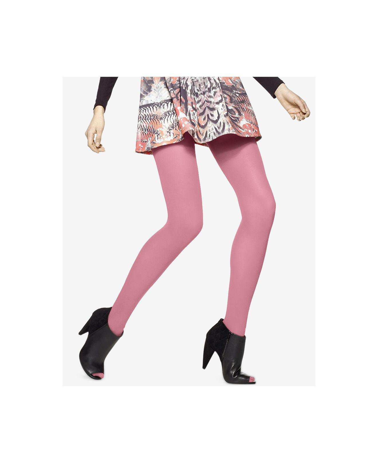 f0a60e400 Hue Opaque Tights in Pink - Lyst