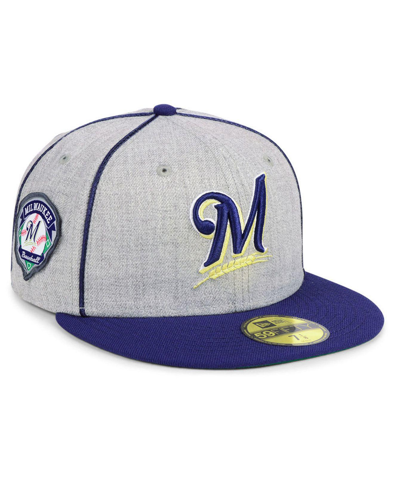 pretty nice 67203 8eec3 KTZ. Men s Milwaukee Brewers Stache 59fifty Fitted Cap