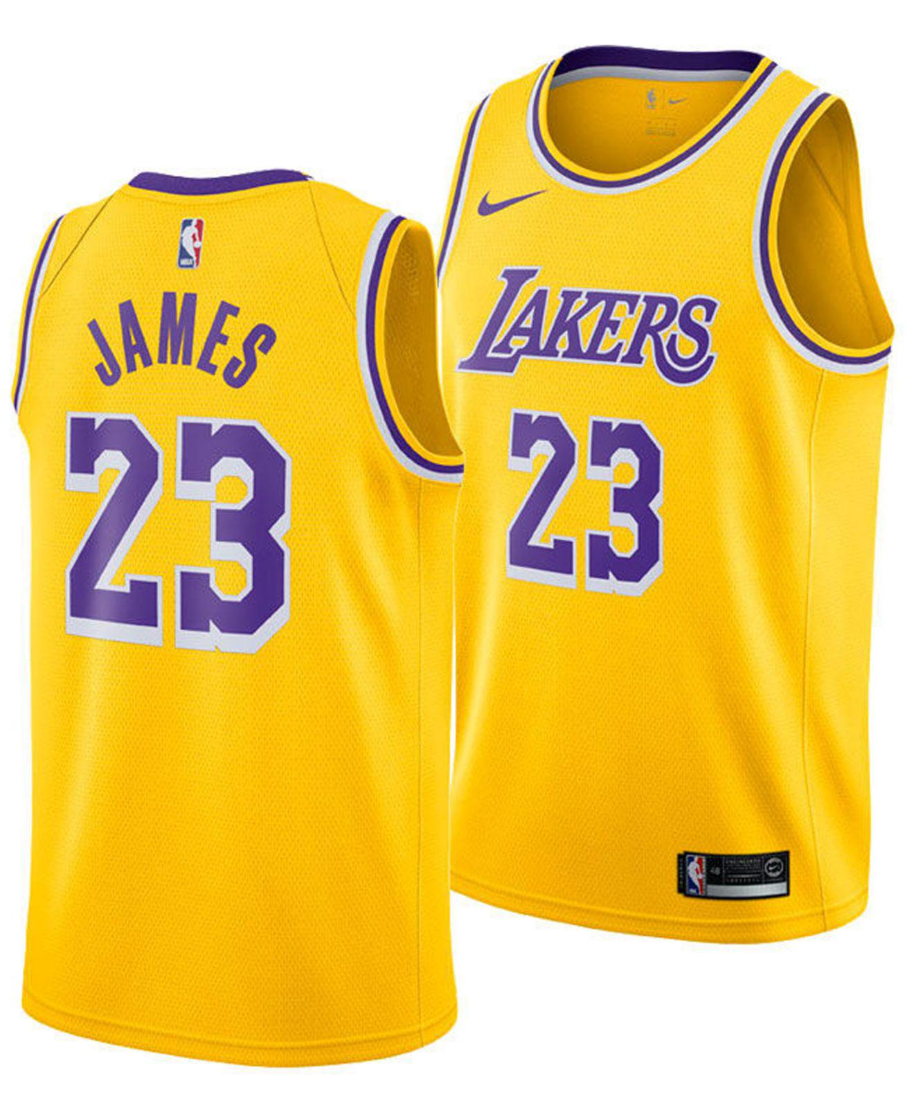 236900723 Nike. Men s Yellow Lebron James Icon Edition Swingman (los Angeles Lakers)  Nba Connected Jersey