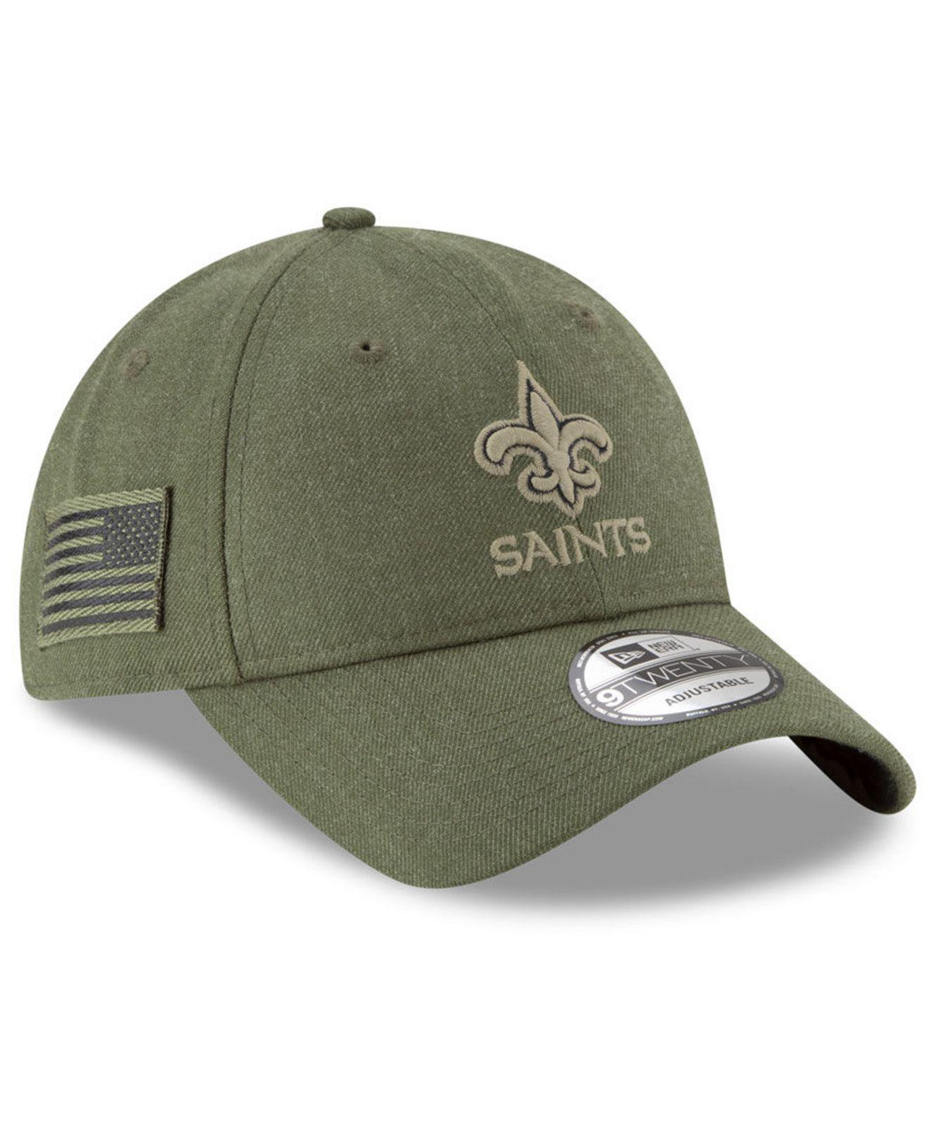 4ae727fd5c86b KTZ New Orleans Saints Salute To Service 9twenty Cap in Green for ...