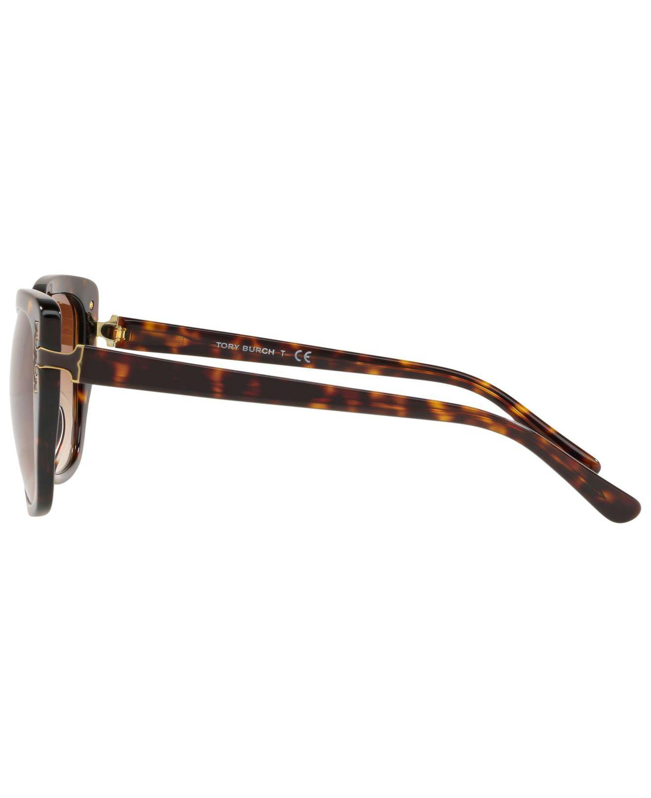 22686af772c0 Tory Burch - Brown Gradient Cat-eye Sunglasses - Lyst. View fullscreen