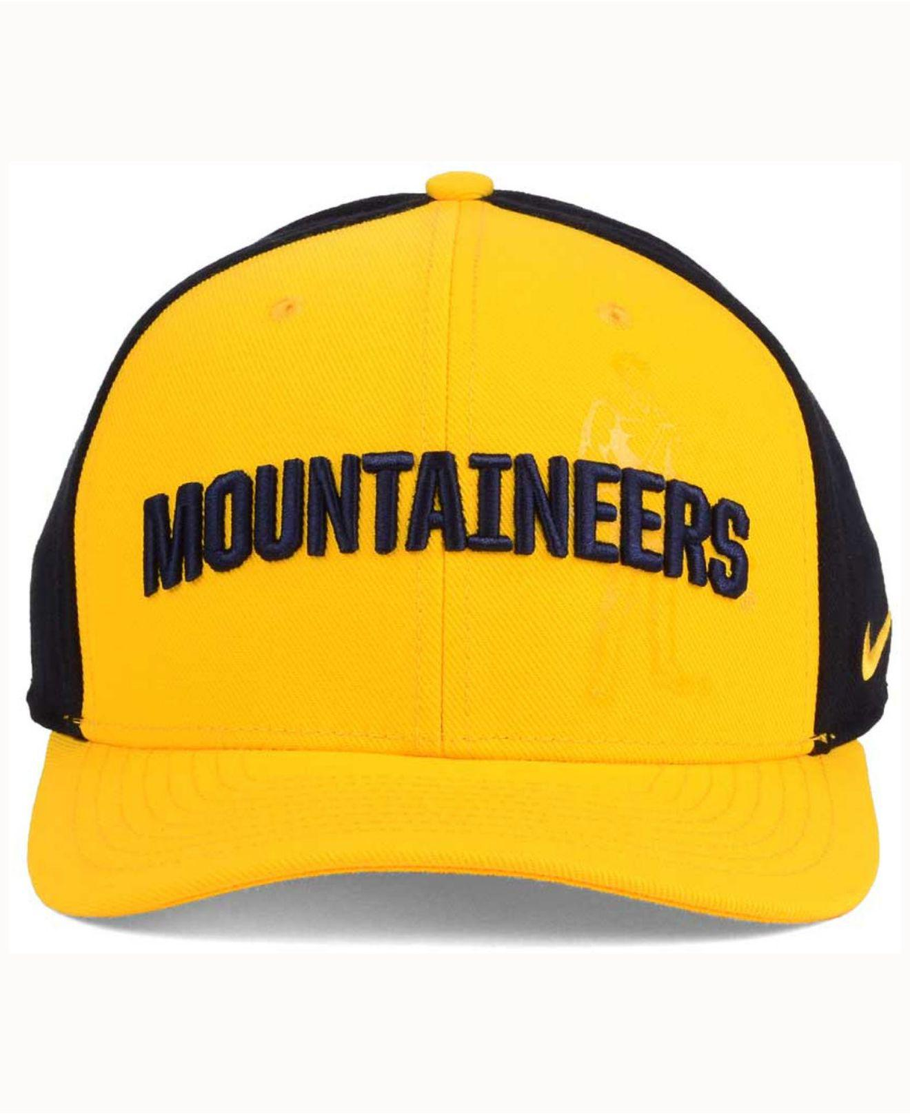 47ecf1a8e56 ... usa lyst nike west virginia mountaineers classic 99 swoosh flex cap in  yellow for men a784c