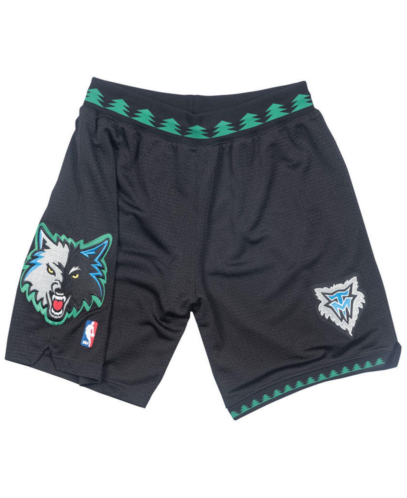 big sale e8292 32eb5 Men's Black Minnesota Timberwolves Authentic Nba Shorts