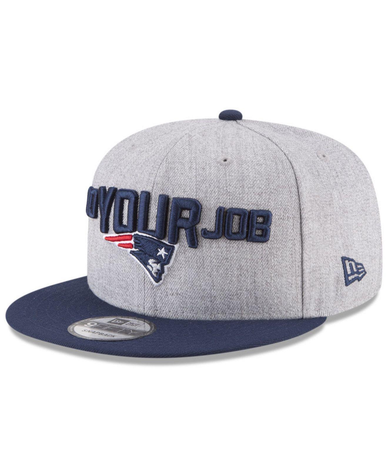 ca9fadc49e7 Lyst - Ktz New England Patriots Draft 9fifty Snapback Cap in Blue ...
